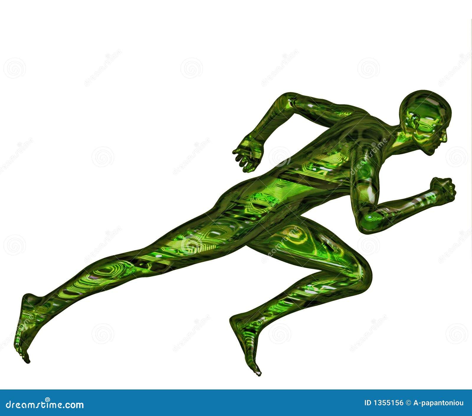 Cyfrowy nadludzką biegacz 3 d