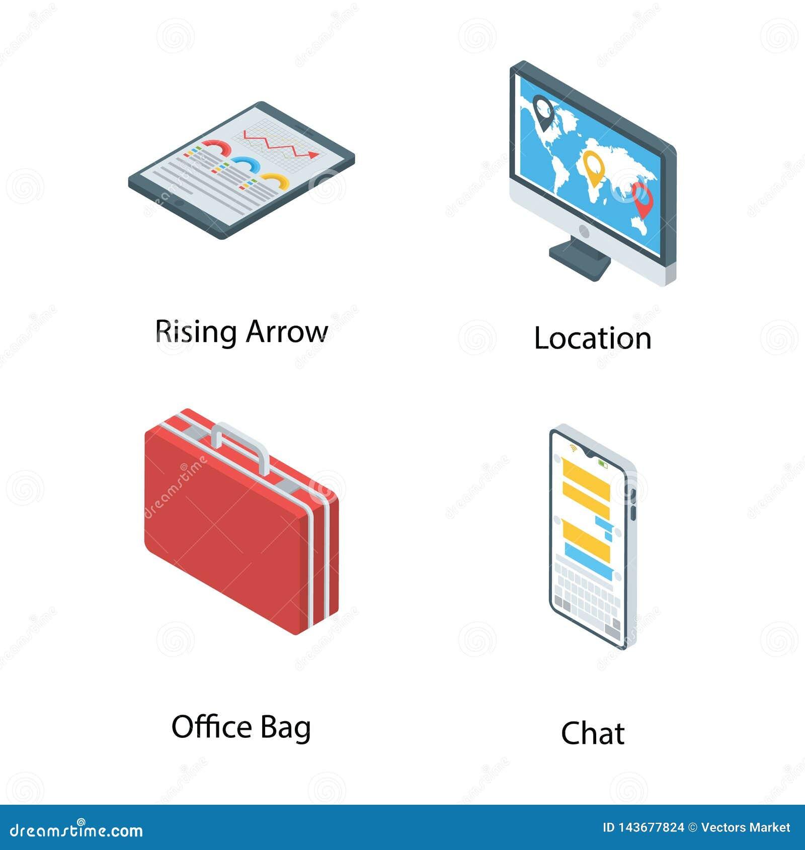 Cyfrowych ikon Marketingowy plik