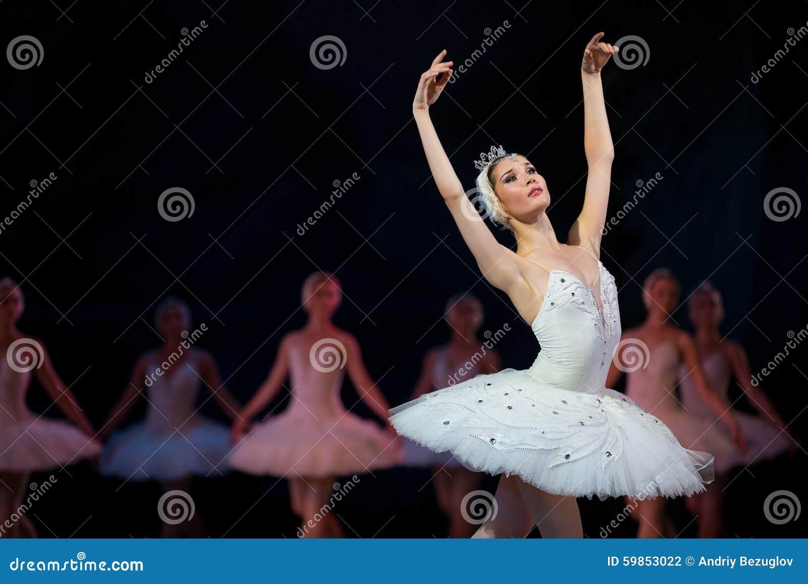 Cygne de blanc de ballerine de Prima