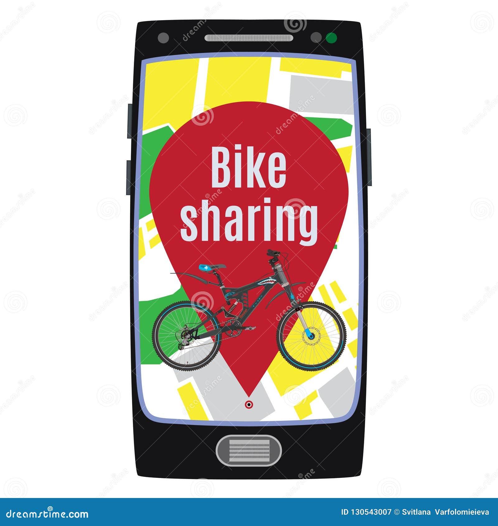 Cykel som delar den plana illustrationen för servicebegreppsvektor