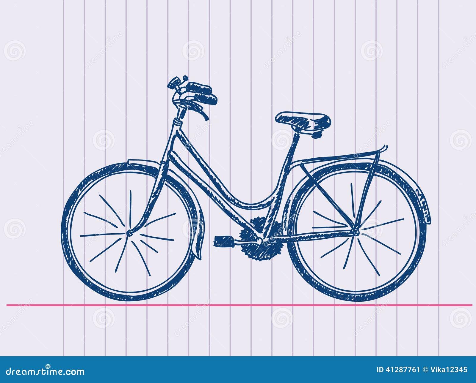 tecknad cykel