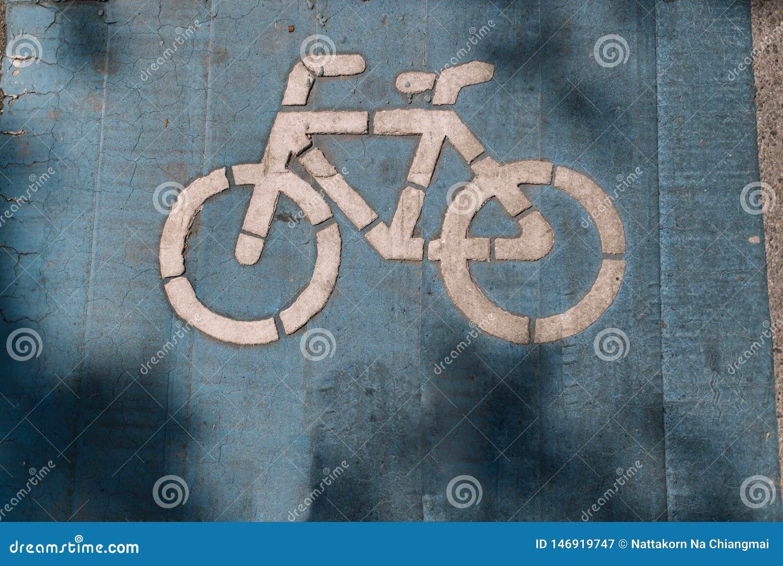 Cykelgrändsäkerhet för cykelcyklist och övningsfolk