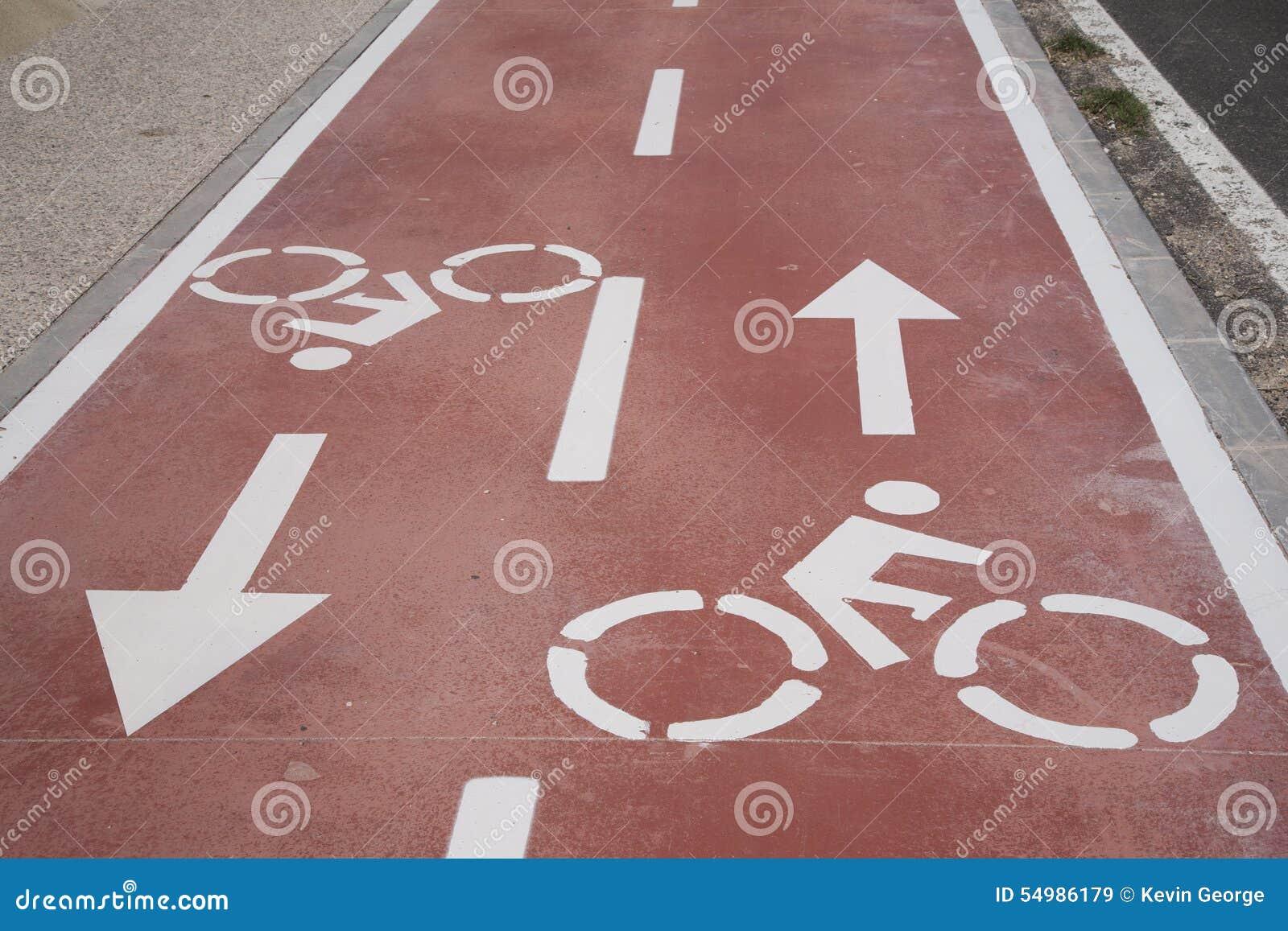 Cykelsymbol på cykelgränd