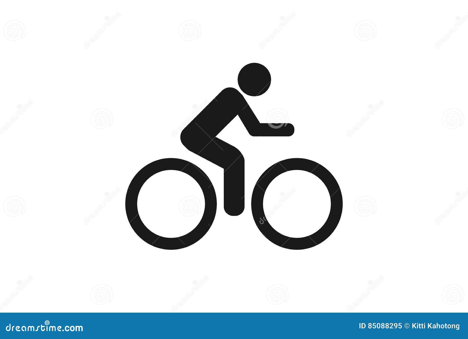 Cykelsymbol på vit bakgrund