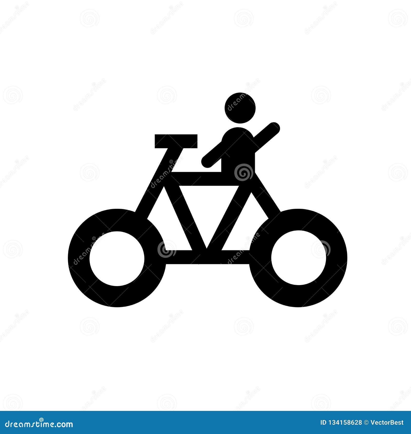 Cykla det symbolsvektortecknet och symbolet som isoleras på vit bakgrund som cyklar logobegrepp