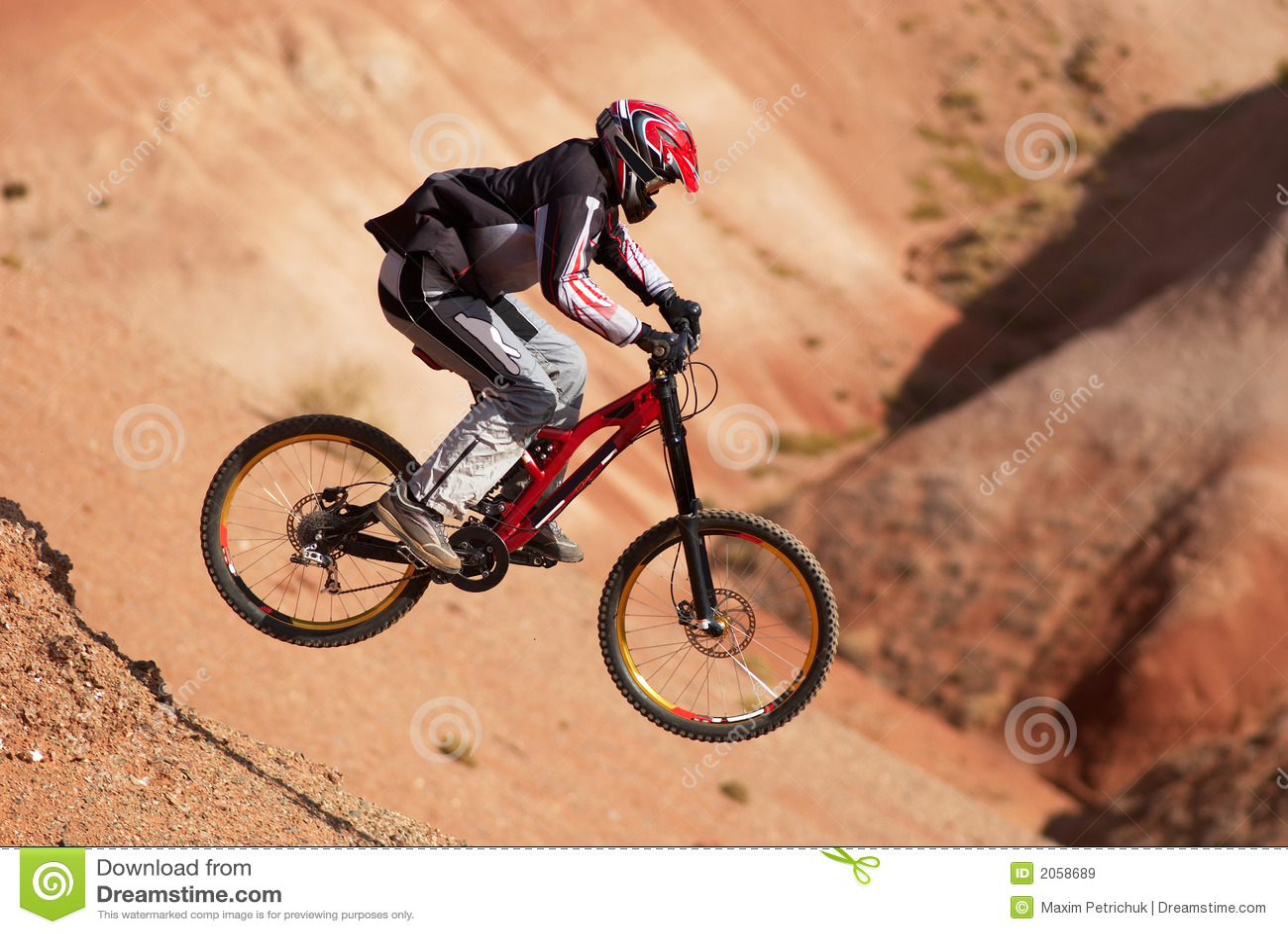 Cykla extremt berg