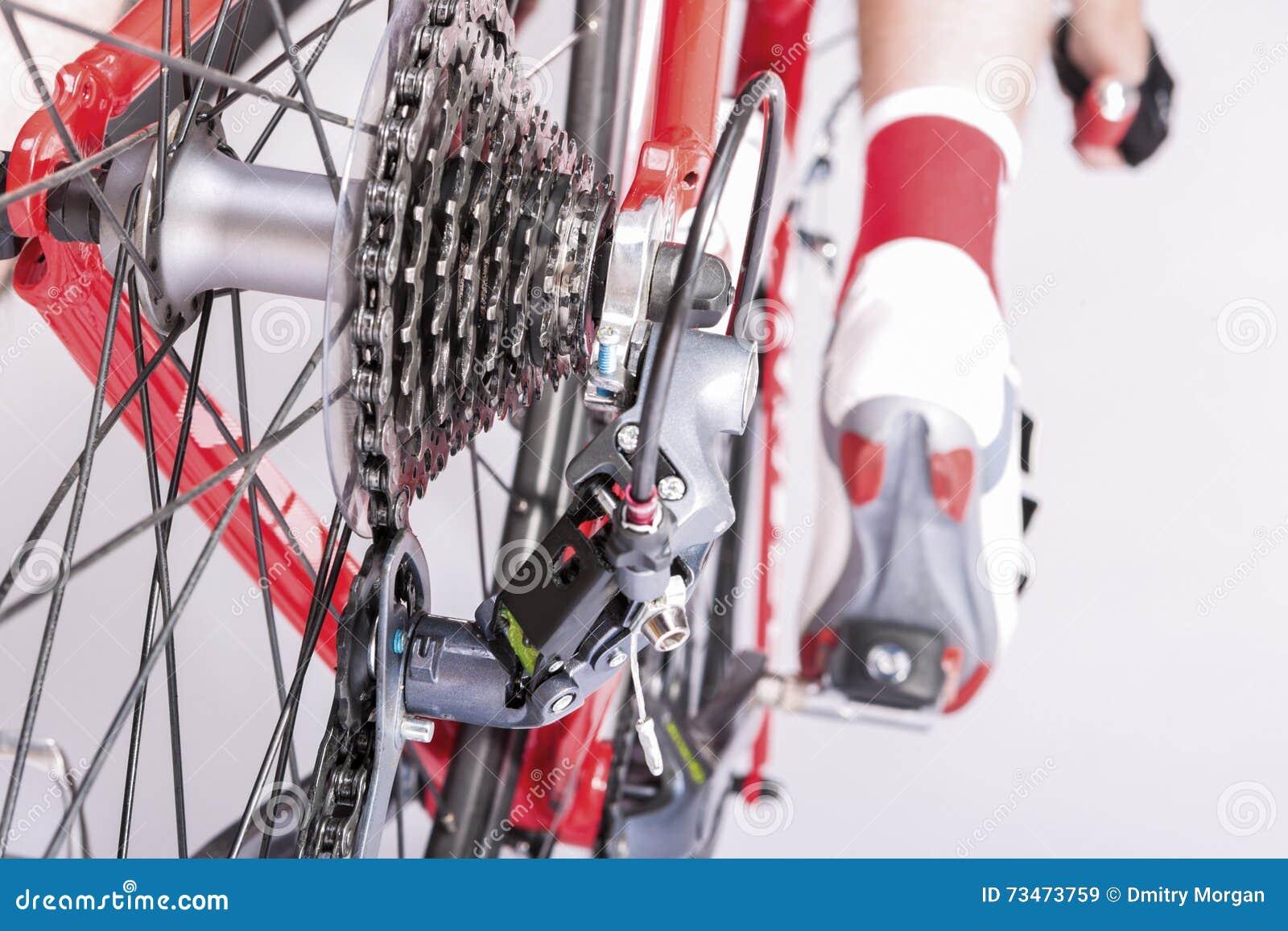 Cykla idéer Bakre Derailleur och kassett Sprokets tillsammans med