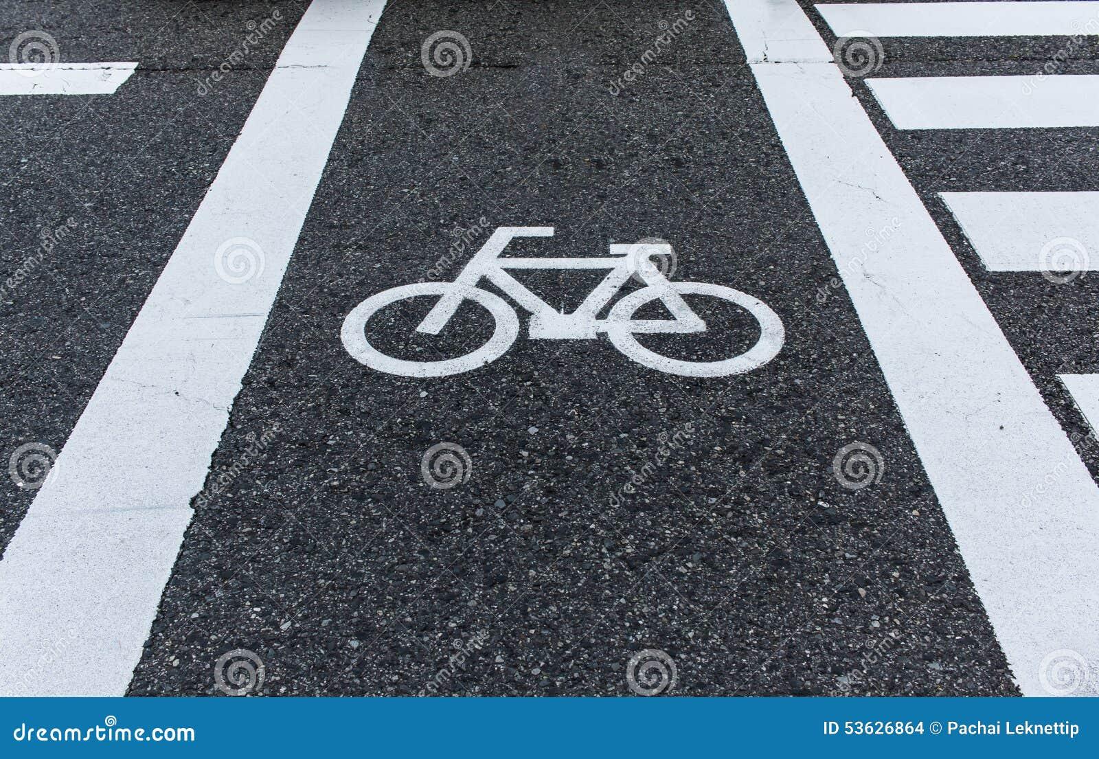 Cykla vägmärket