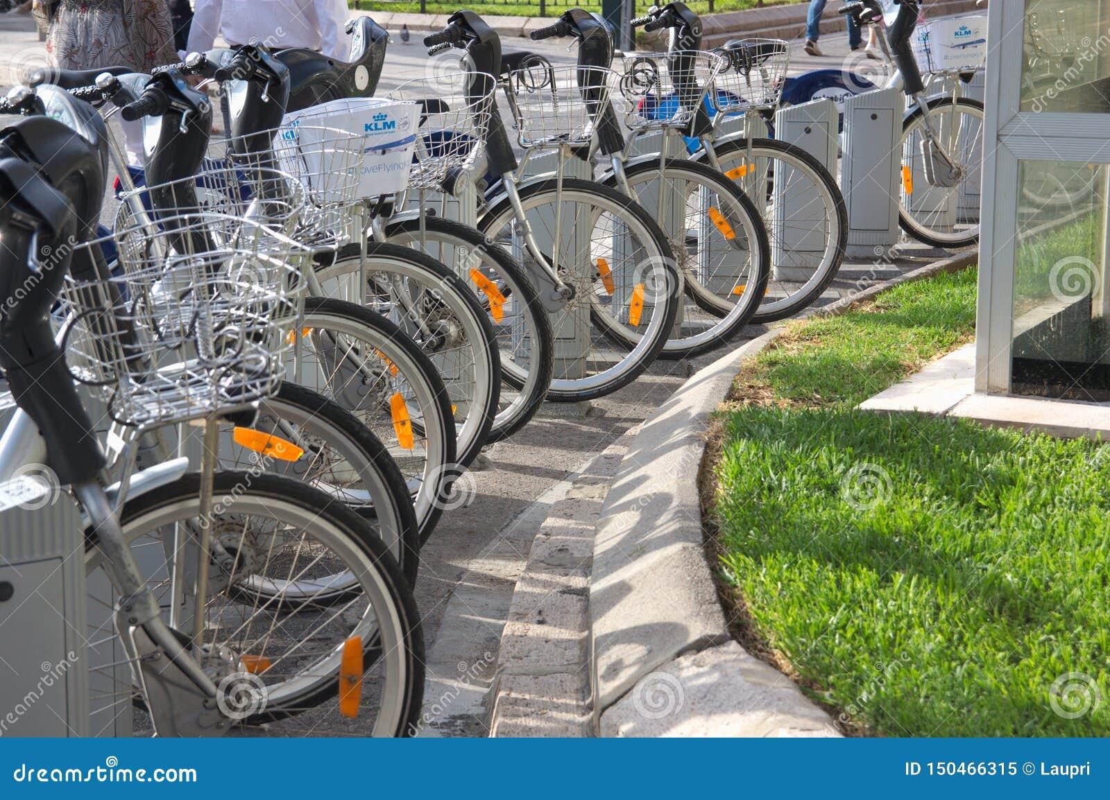 Cyklar från staden av Valencia, Spanien
