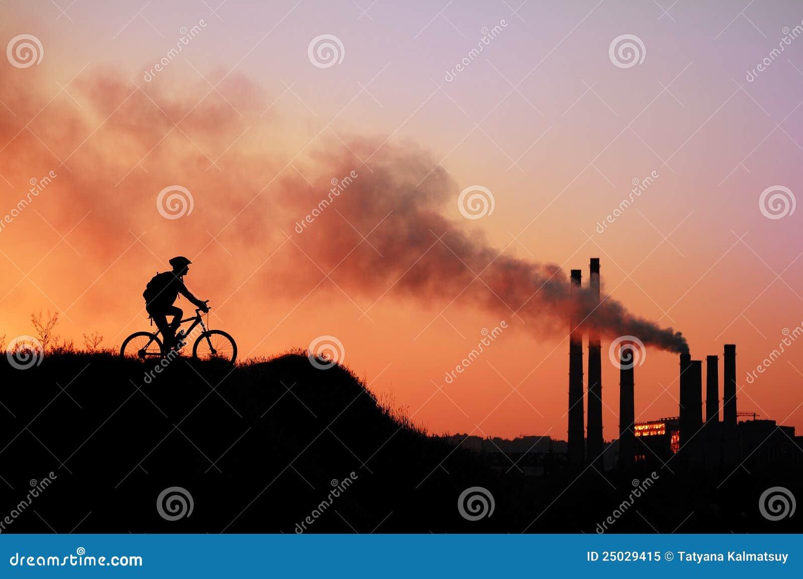Cyklistsilhouette