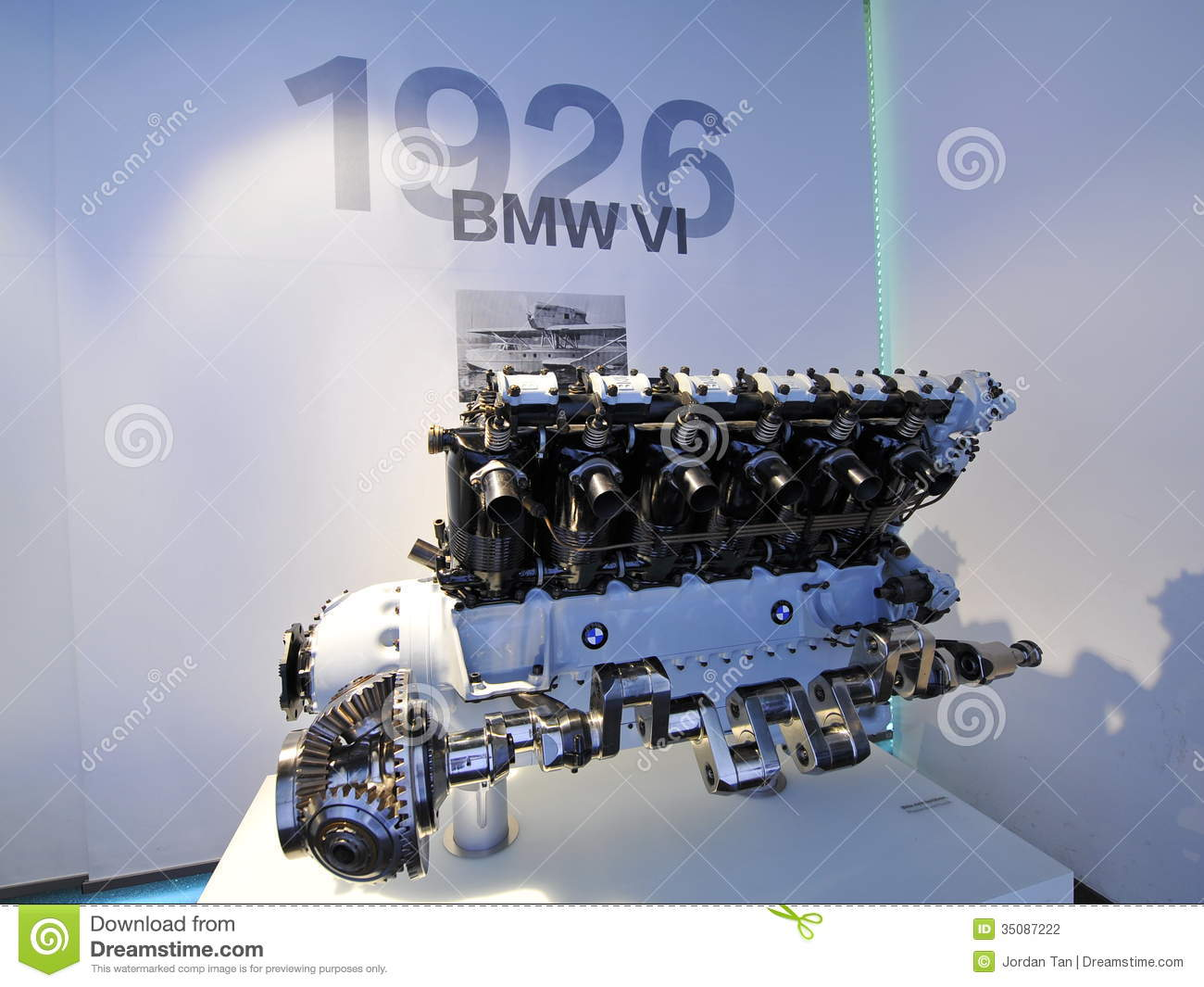 12 Cylinders Bmw Vi Engine On Display In Bmw Museum
