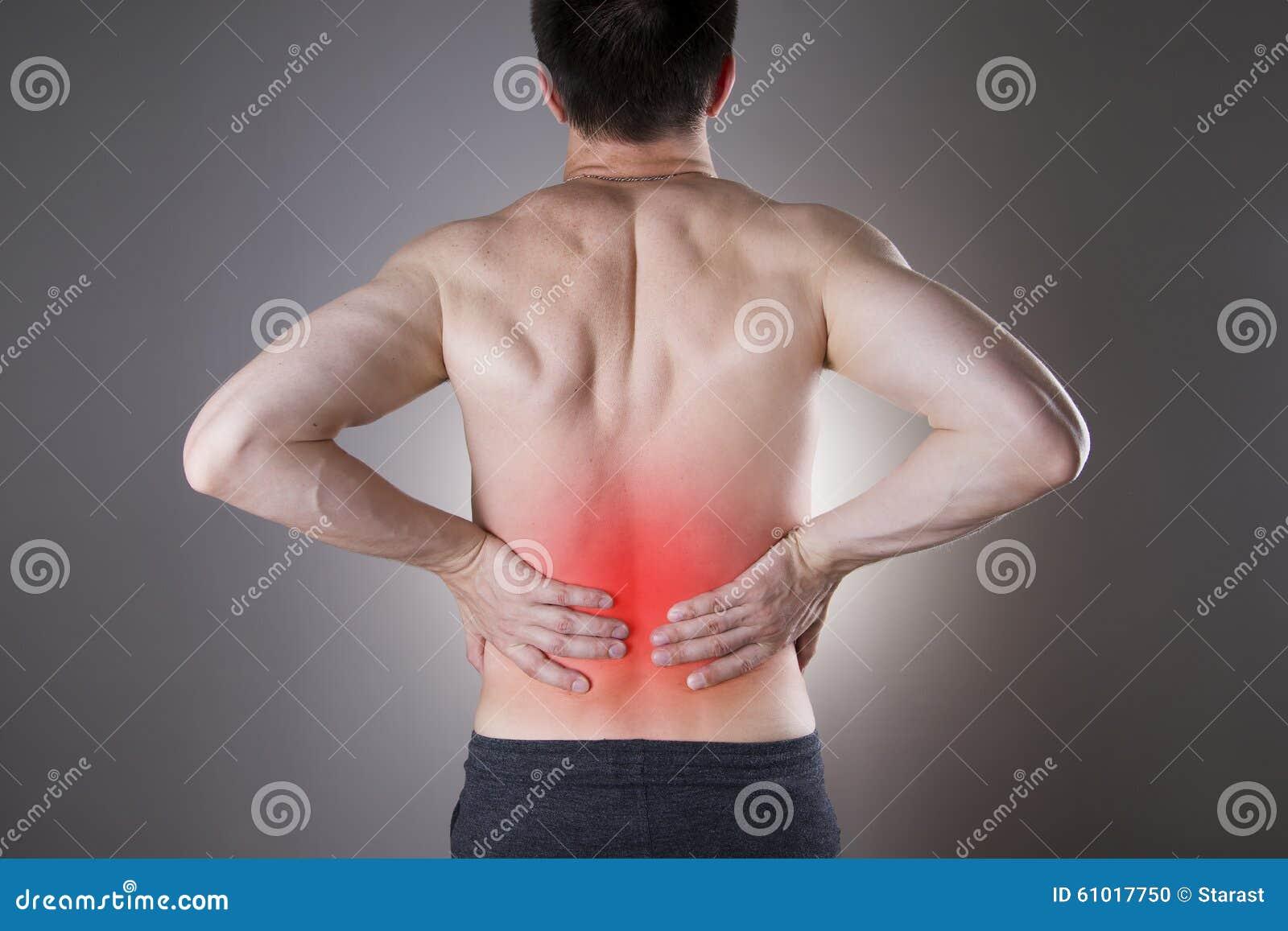Cynaderki ból Mężczyzna z backache Ból w mężczyzna ciele