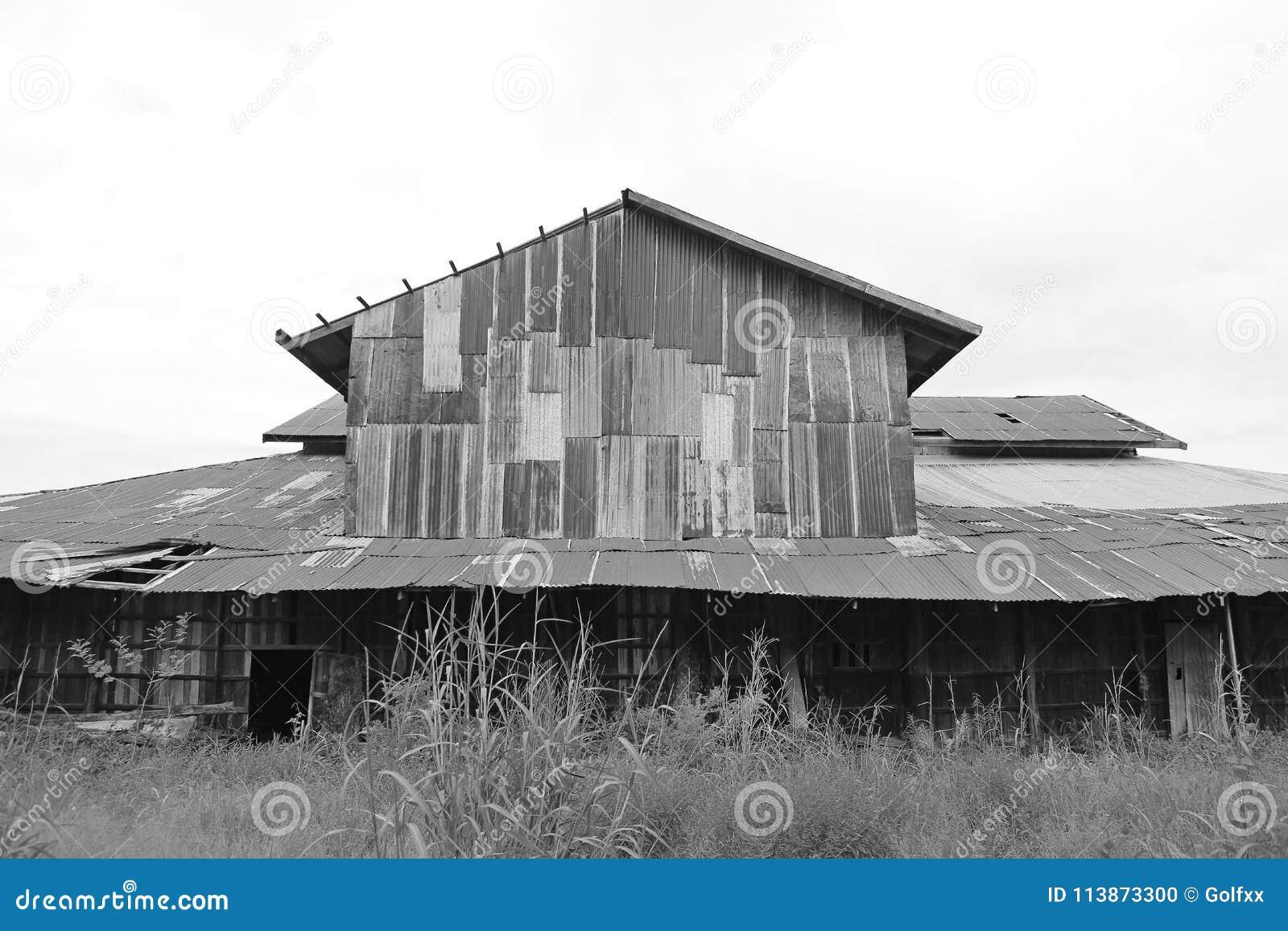 Cynkowego ściennego ośniedziałego panwiowego metalu Thailand domu gnicia antyczna natura