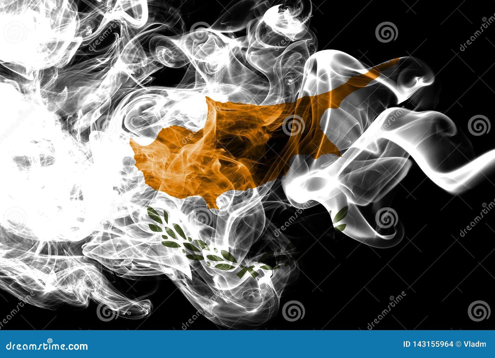 Cypr dymu flaga, wyspa kraj w Wschodni Śródziemnomorskim