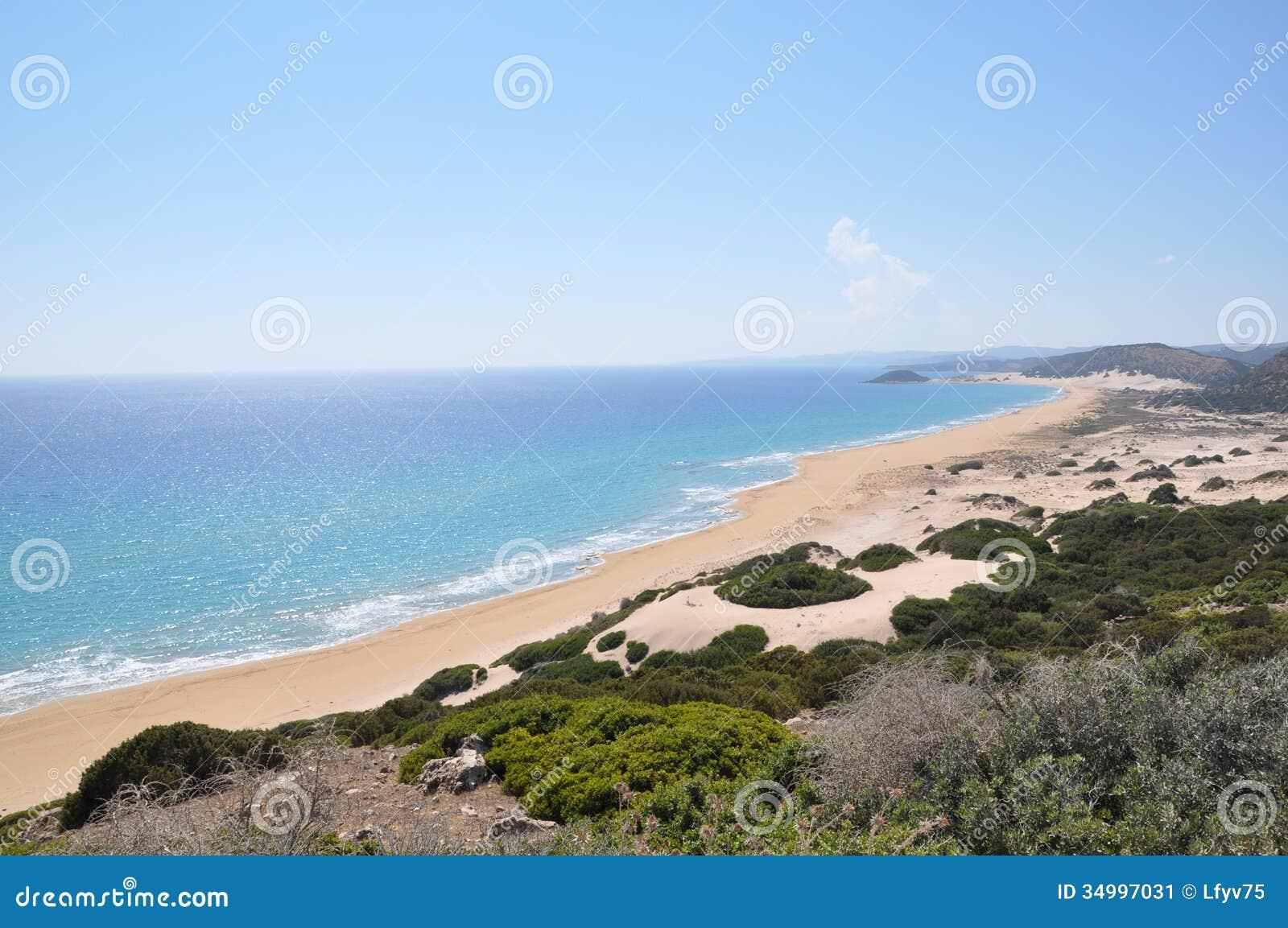 Cypr Złoci piaski, Karpass półwysep, morze śródziemnomorskie, Europa