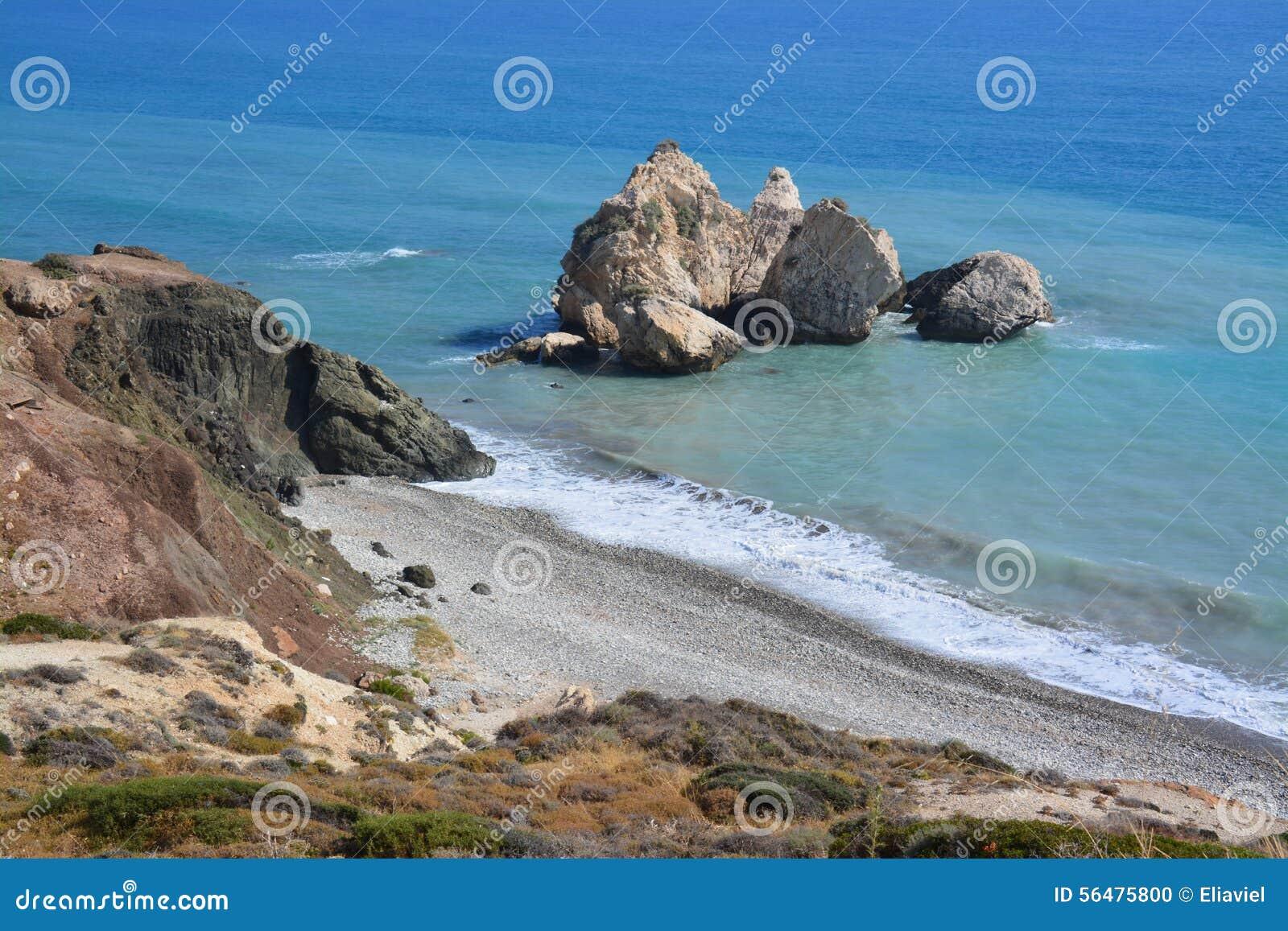 Cyprus Beach stock photo  Image of rugged, shore, water