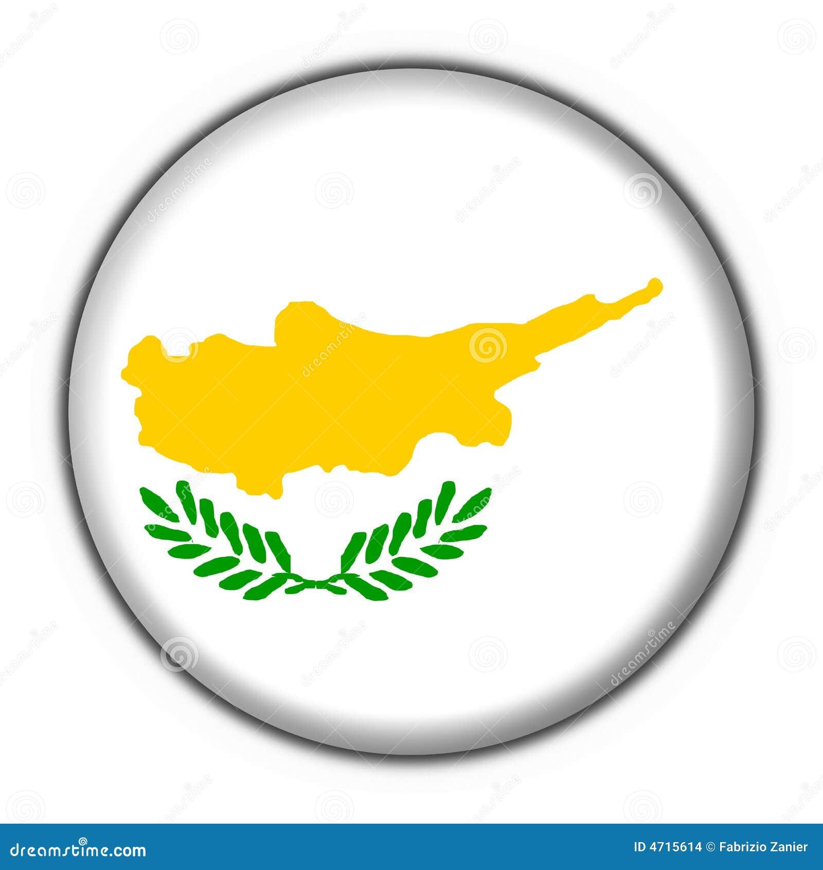 Cyprus button flag round shape