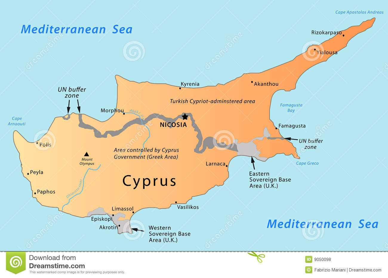 Cyprus map stock vector image of eastern cartography 31437238 cyprus map royalty free stock photos sciox Gallery