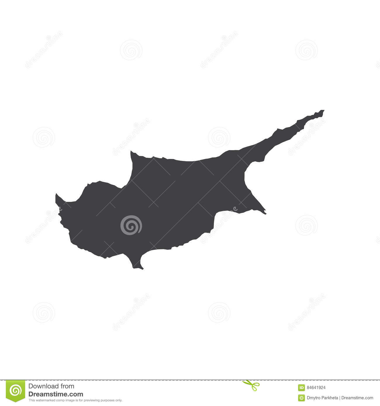 Cyprus map silhouette illustration Stock Images Cyprus