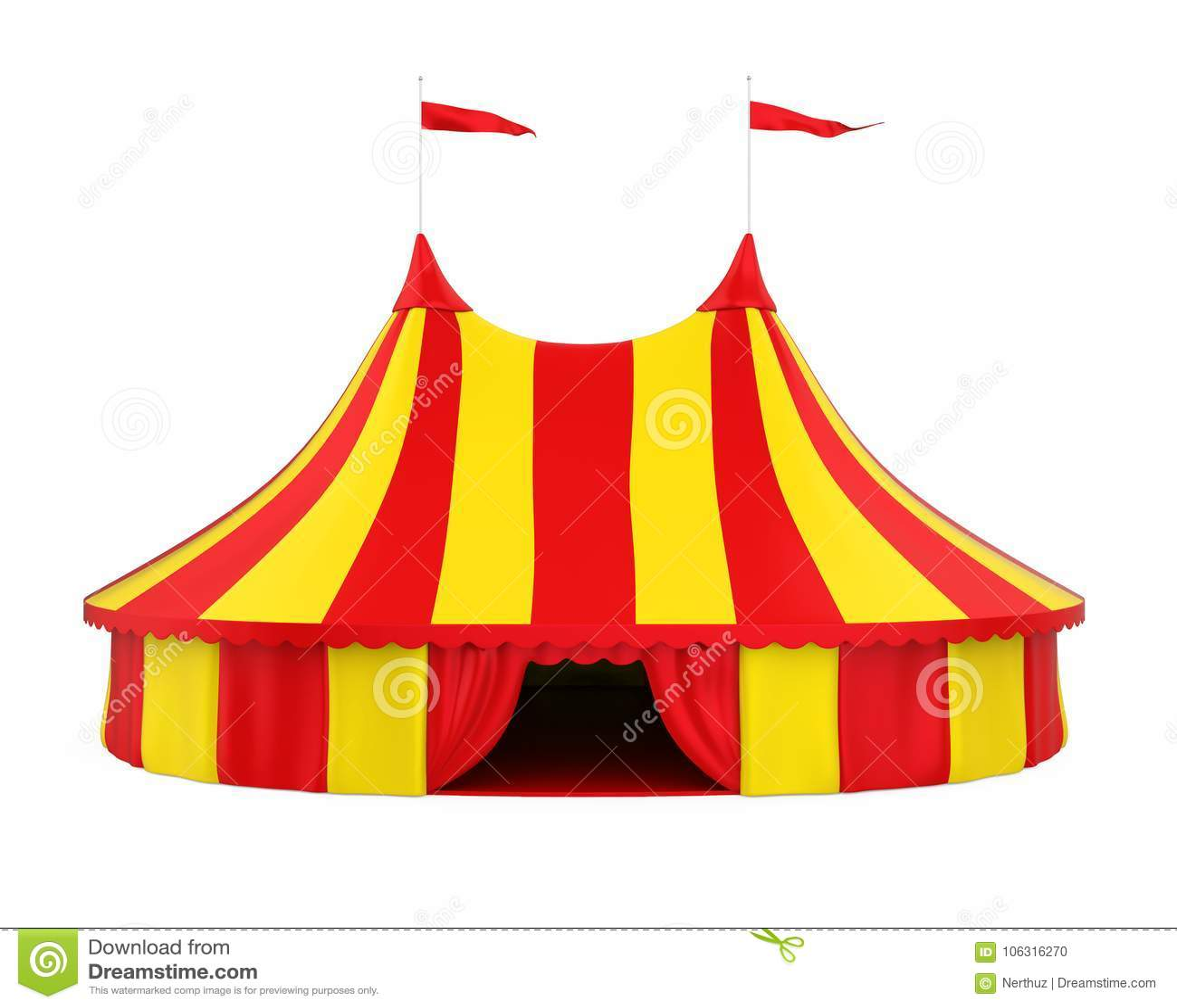 Cyrkowy namiot Odizolowywający