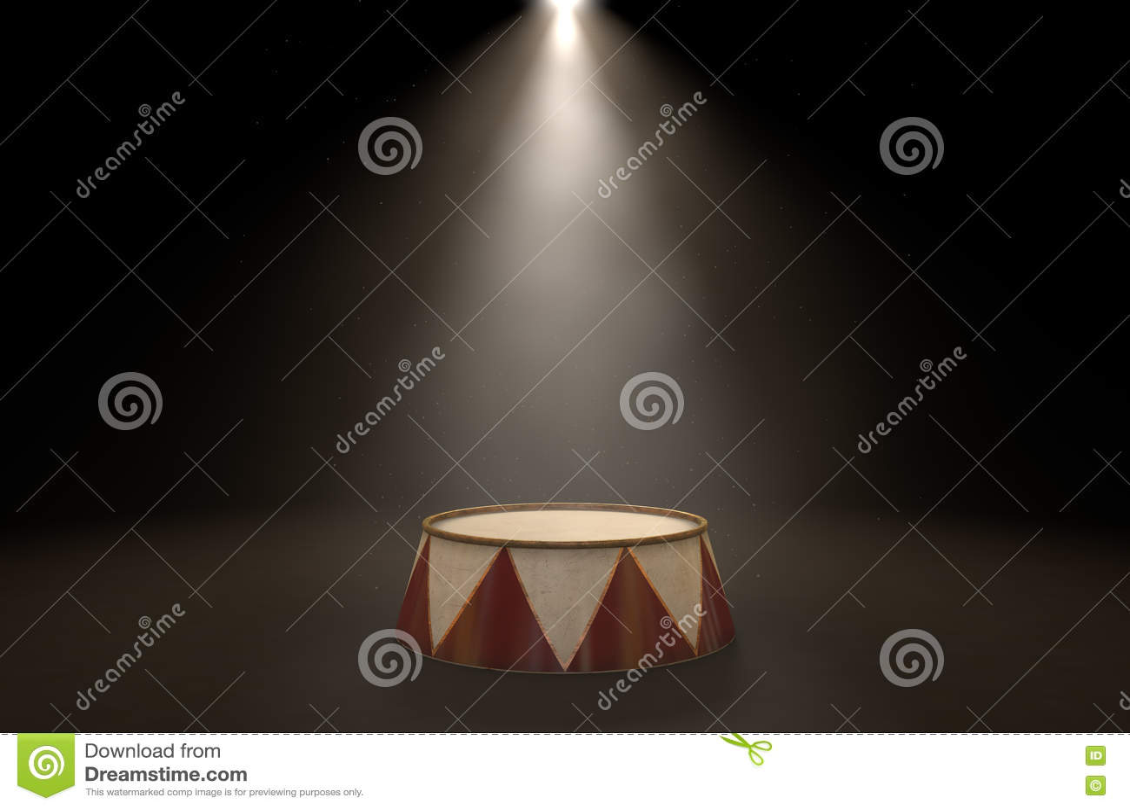 Cyrkowy podium Spotlit