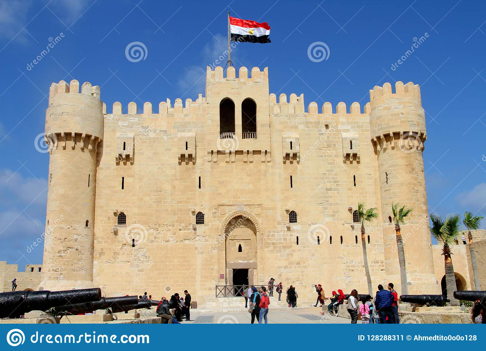 Cytadela Qaid zatoka Aleksandria, Egipt