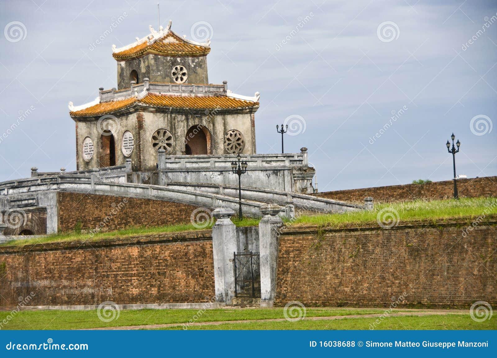 Cytadeli bramy odcienia wierza ściana