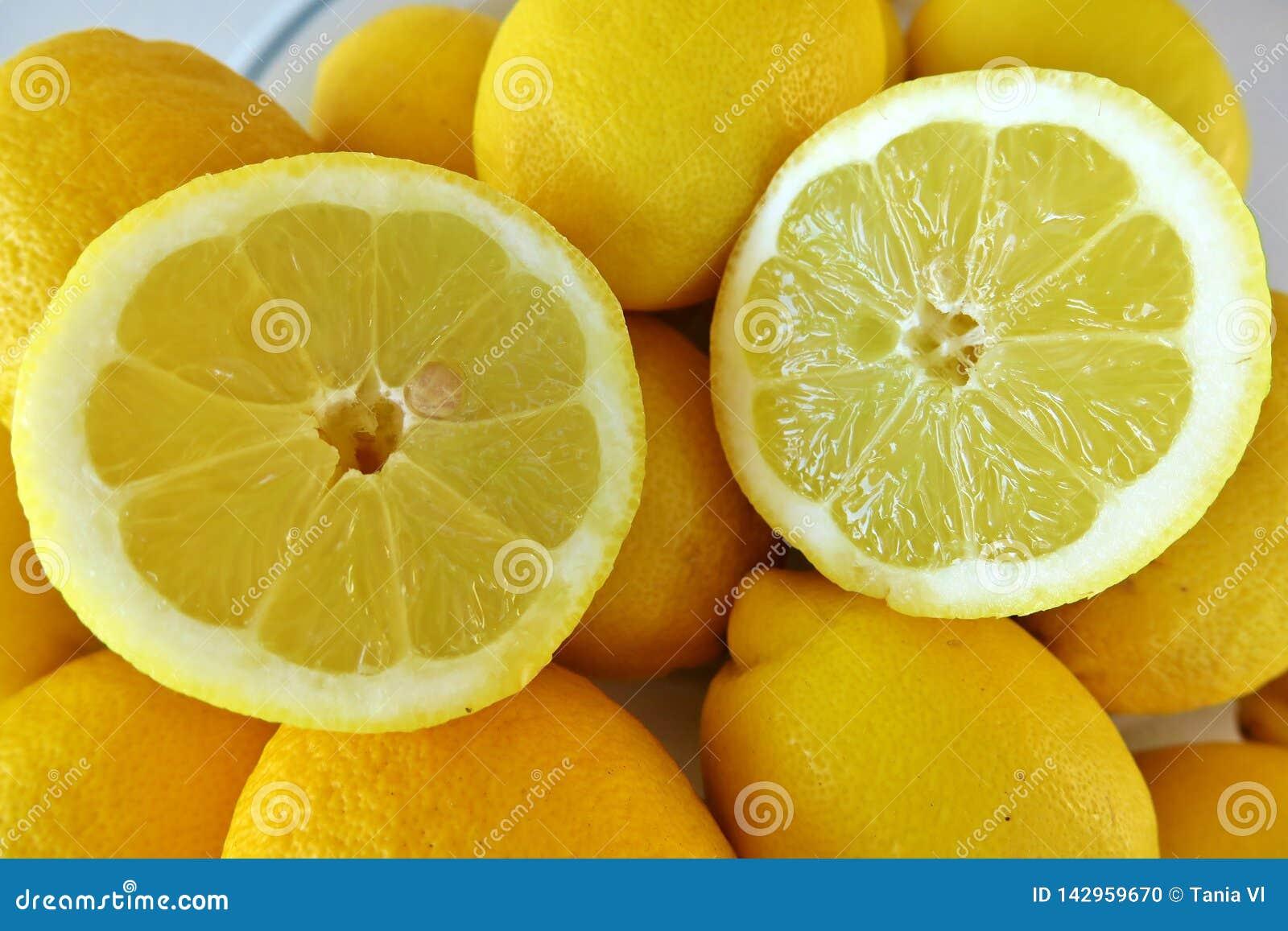 Cytrus owoc żółta dojrzała cytryna