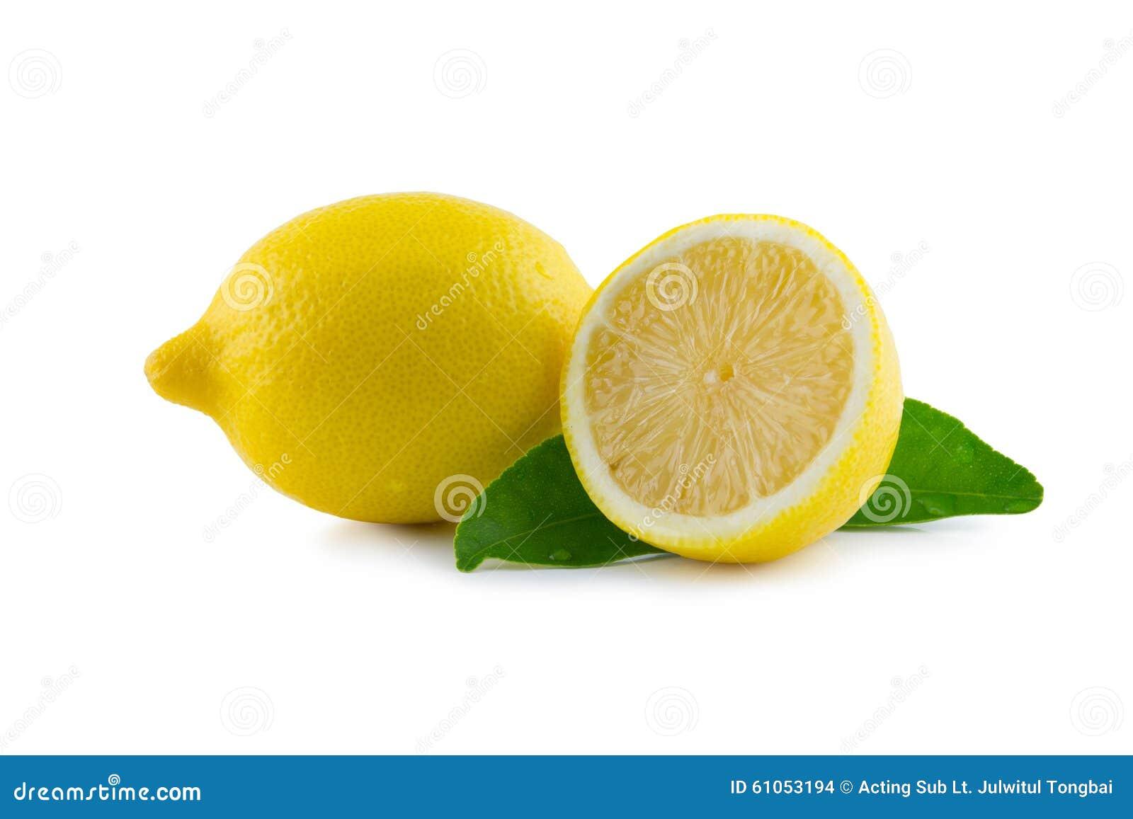 Cytryna z liściem