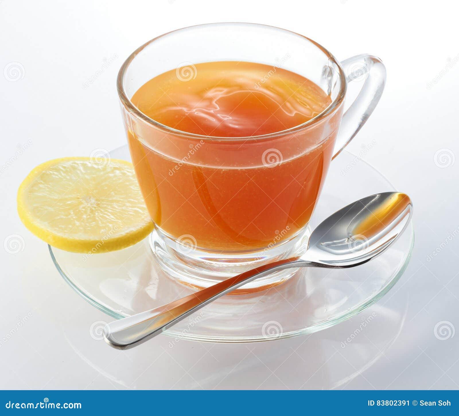 Cytryny gorąca herbata