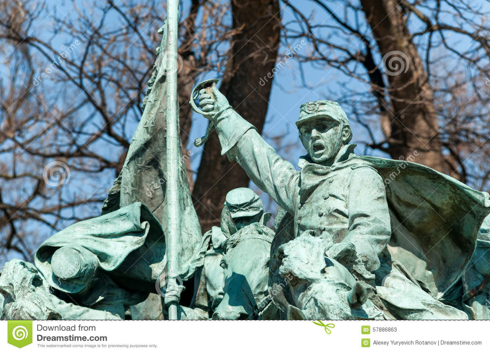Cywilna Wojennego pomnika statua w washington dc