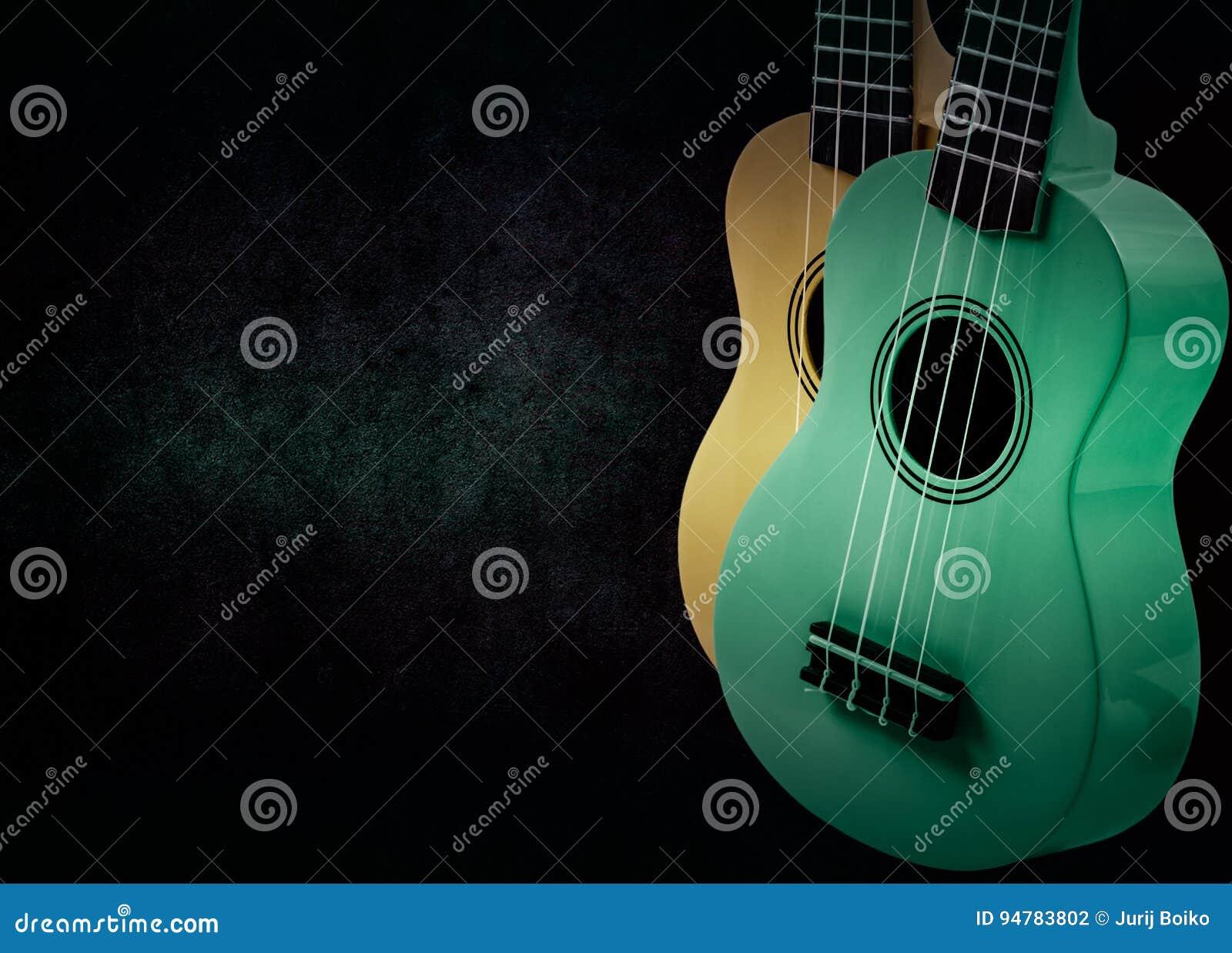 Część gitara akustyczna na czarnym tle