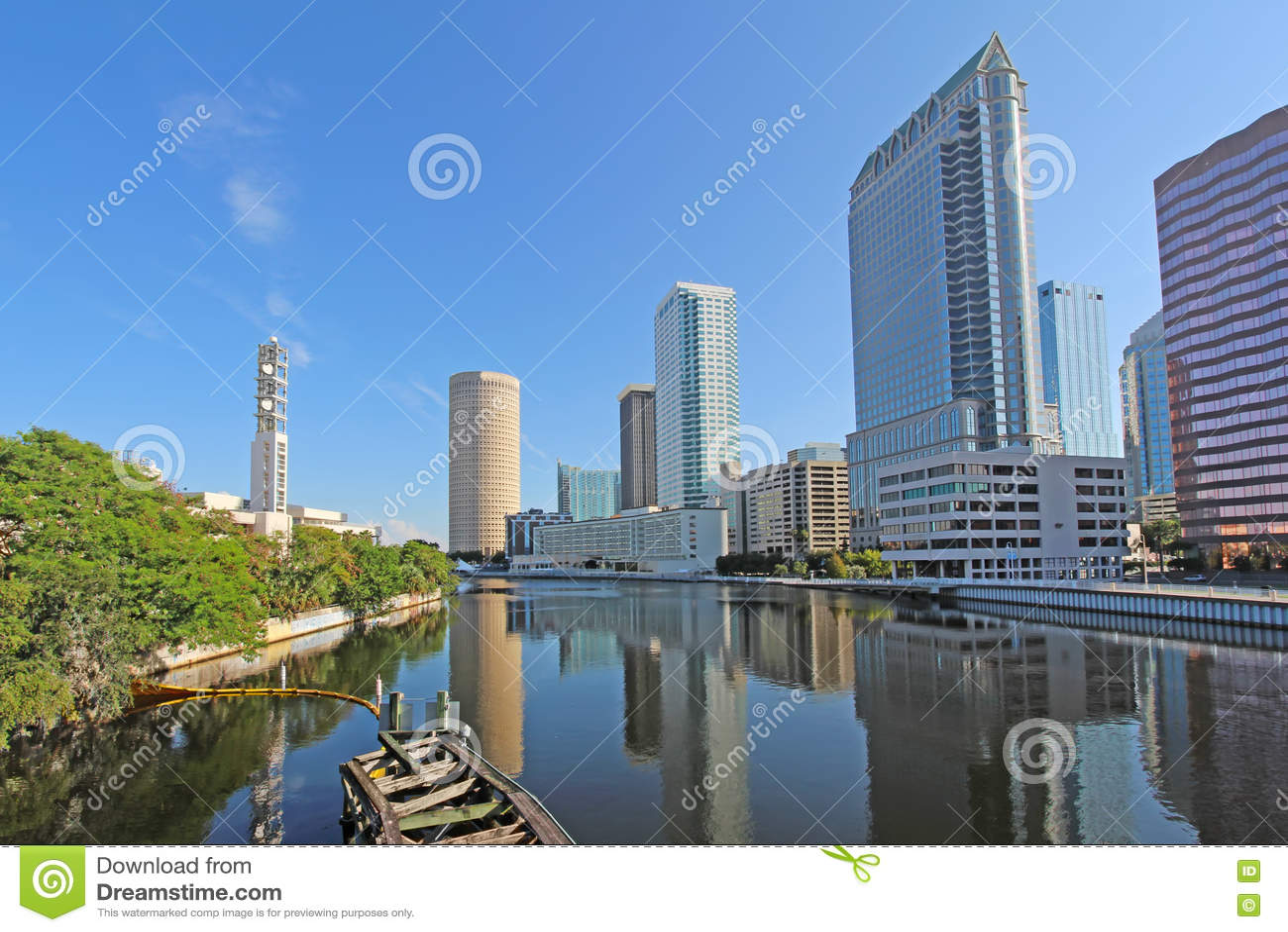 Częściowa linia horyzontu Tampa, Floryda