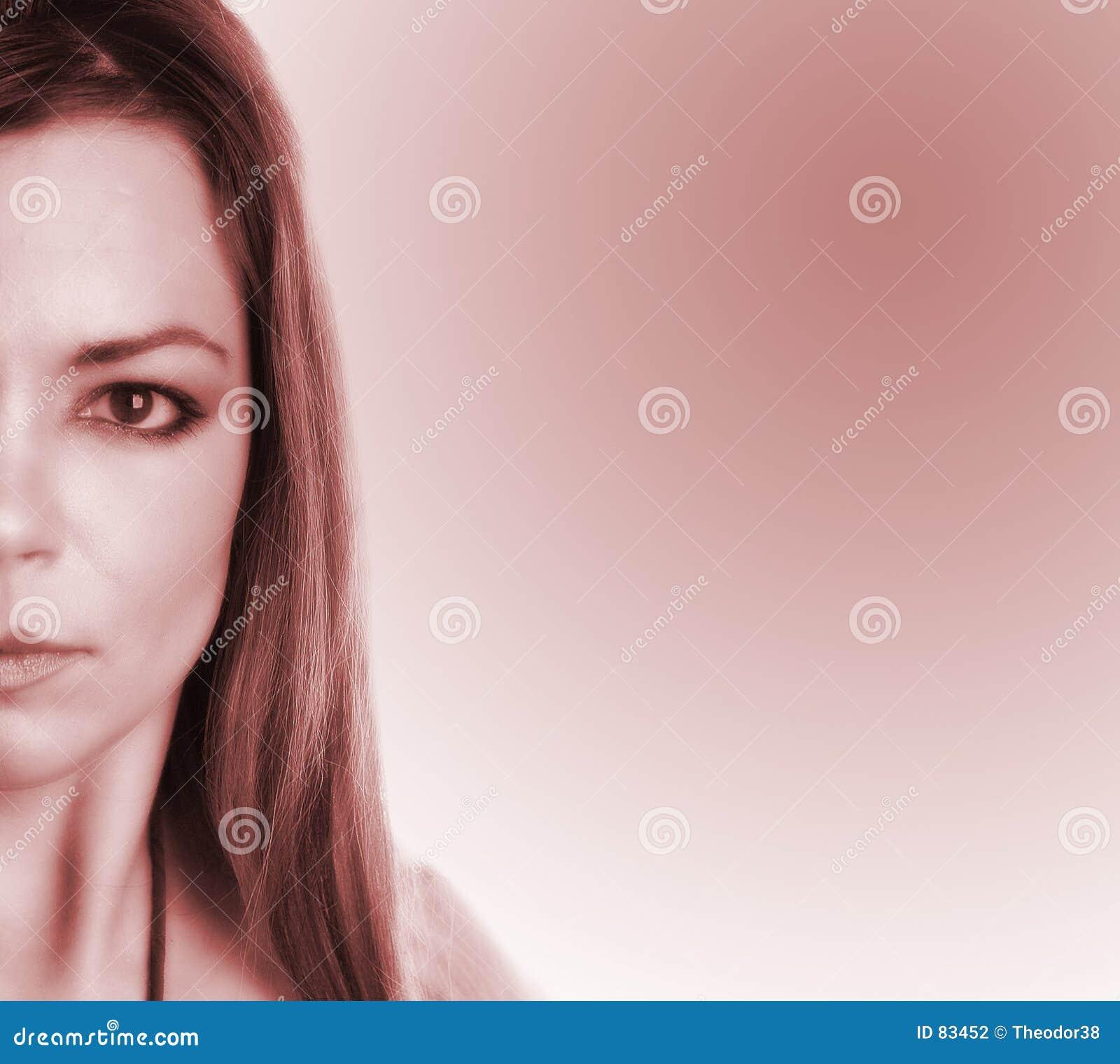 Częściowa twarz kobiety