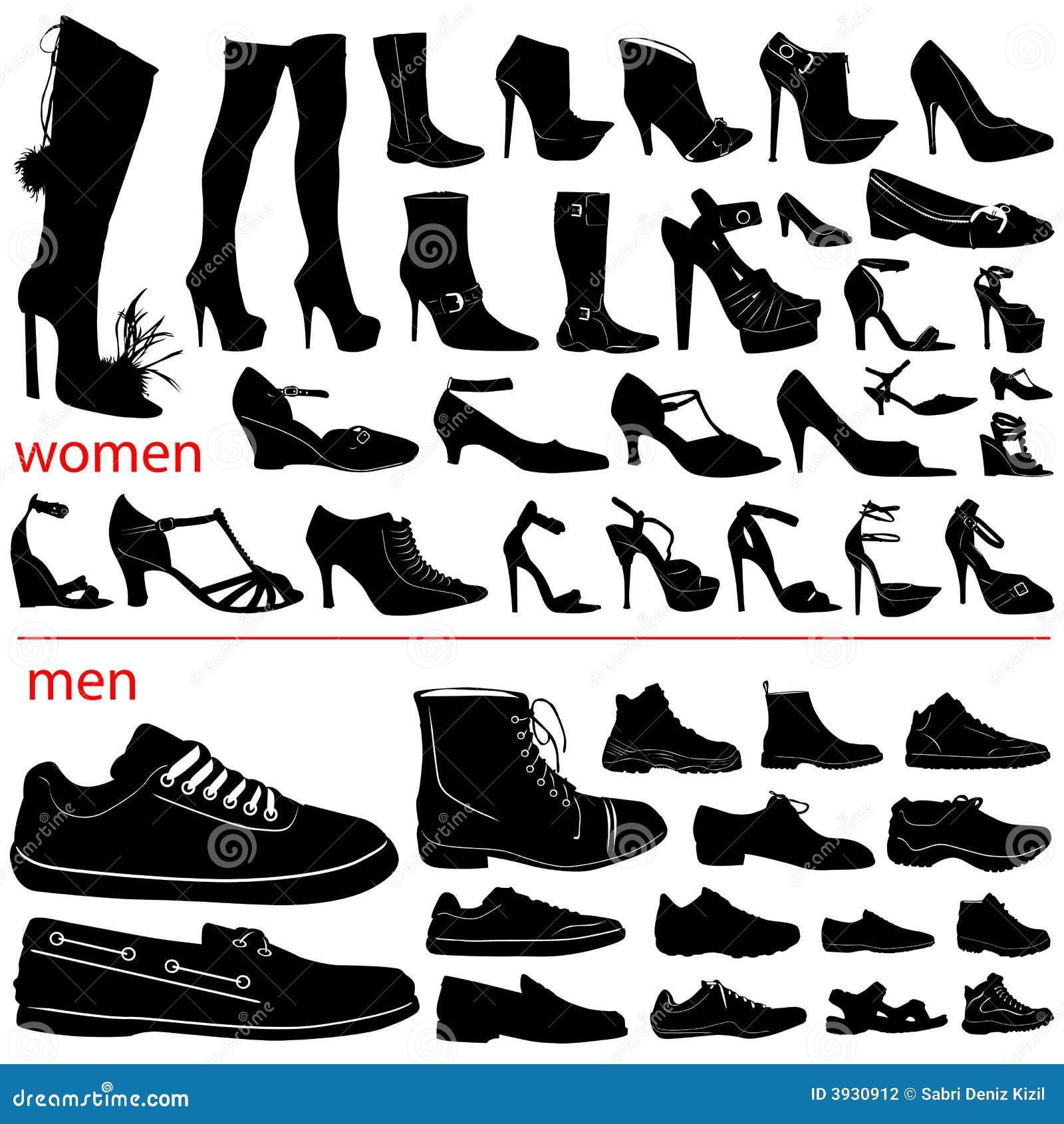 Człowiek butów kobiety wektora