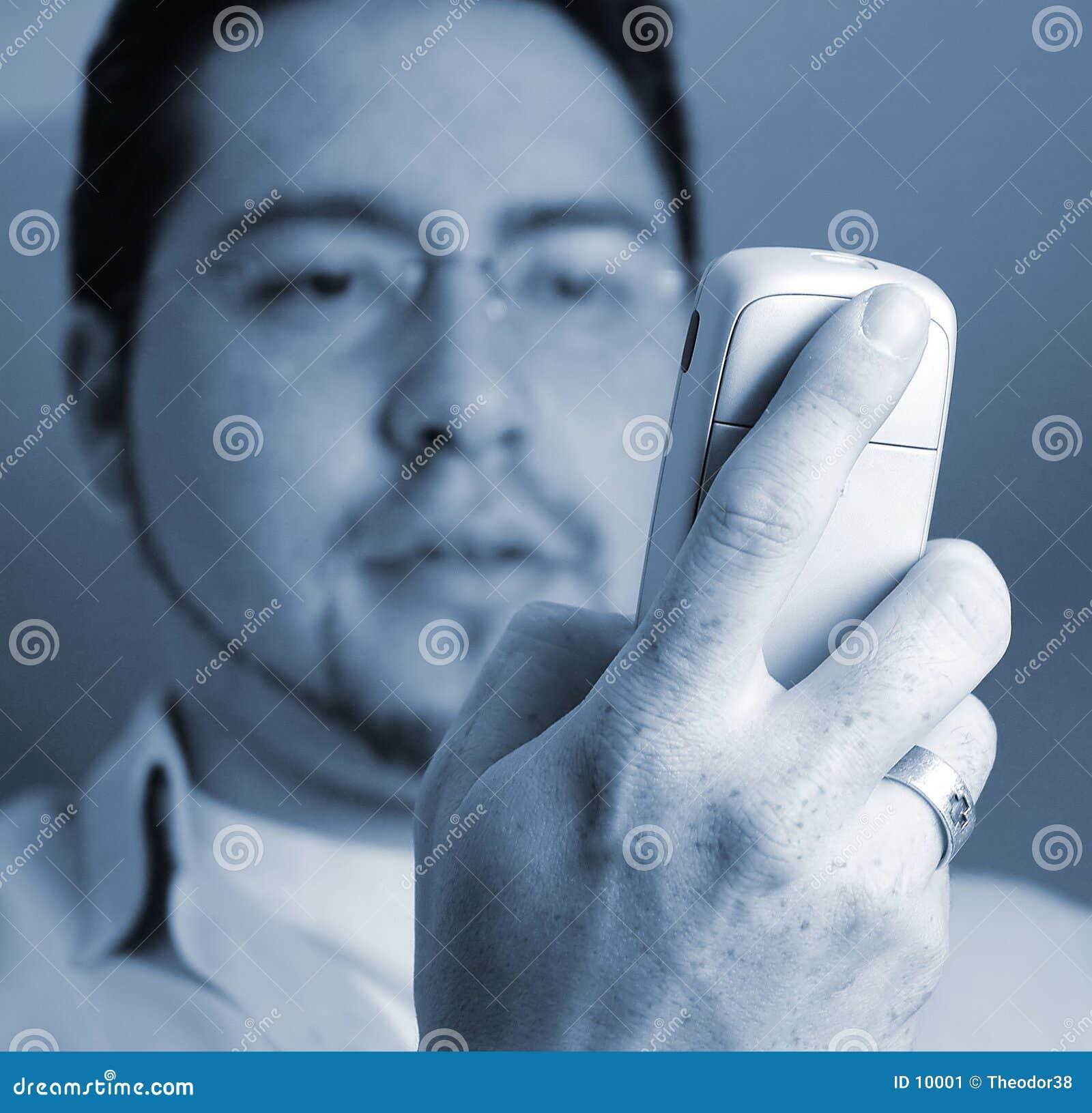 Człowiek na telefon.