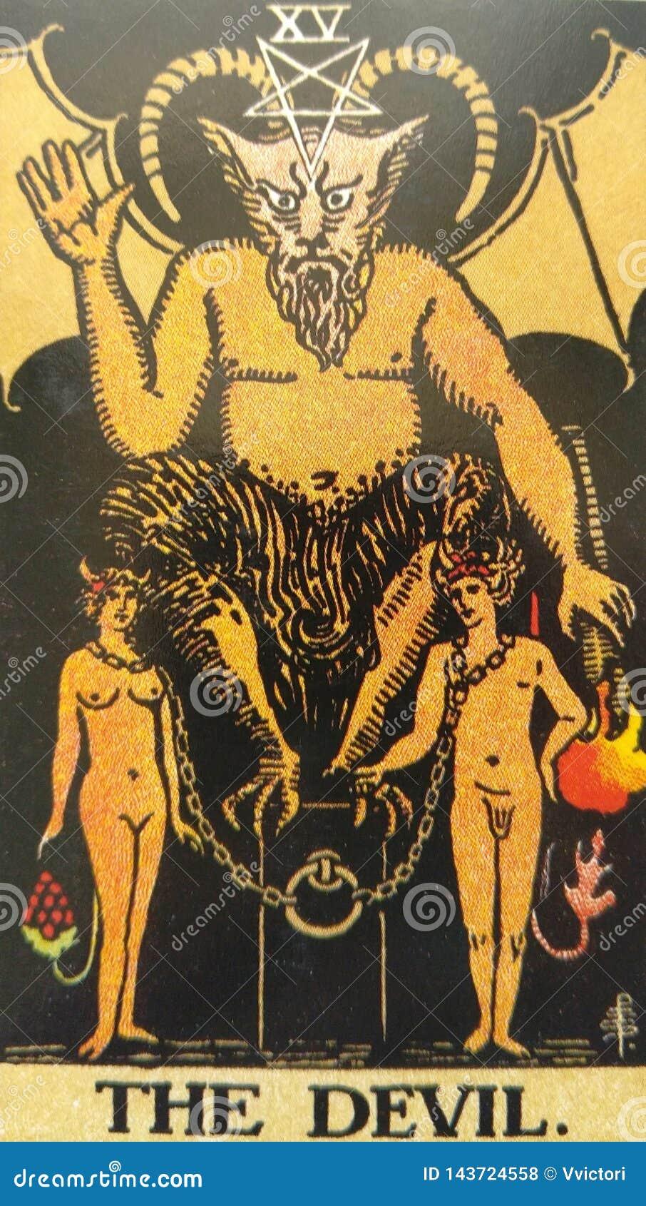 Czarci Tarot karty niewolnictwo, kuszenie, enslavement, materializm, na?ogi