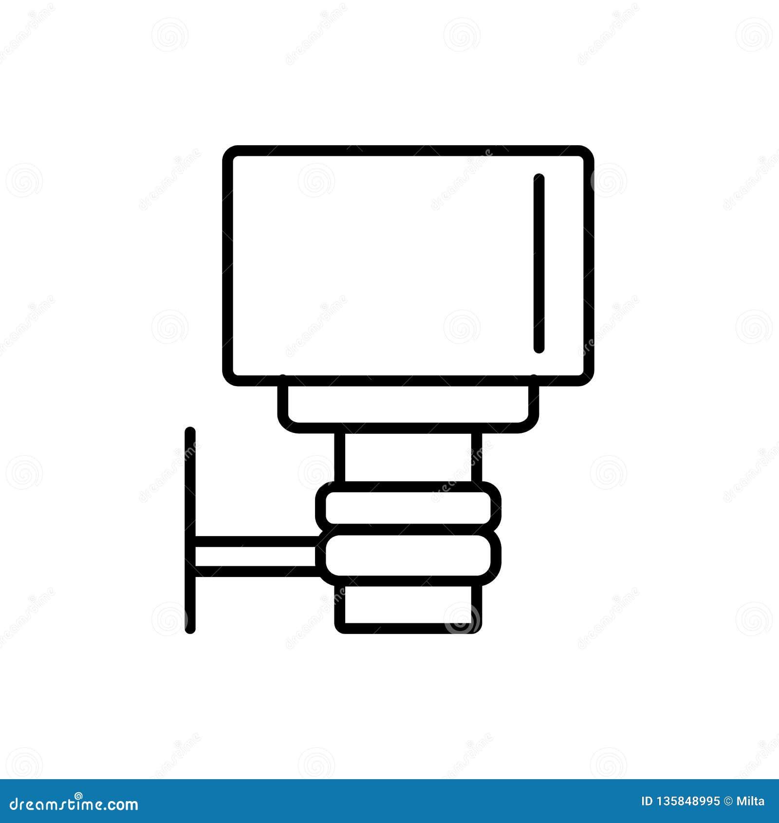 Czarna & biała wektorowa ilustracja plenerowy lekki półmrok dnieć czujnika Kreskowa ikona energooszczędna ścienna lampa Odosobnio
