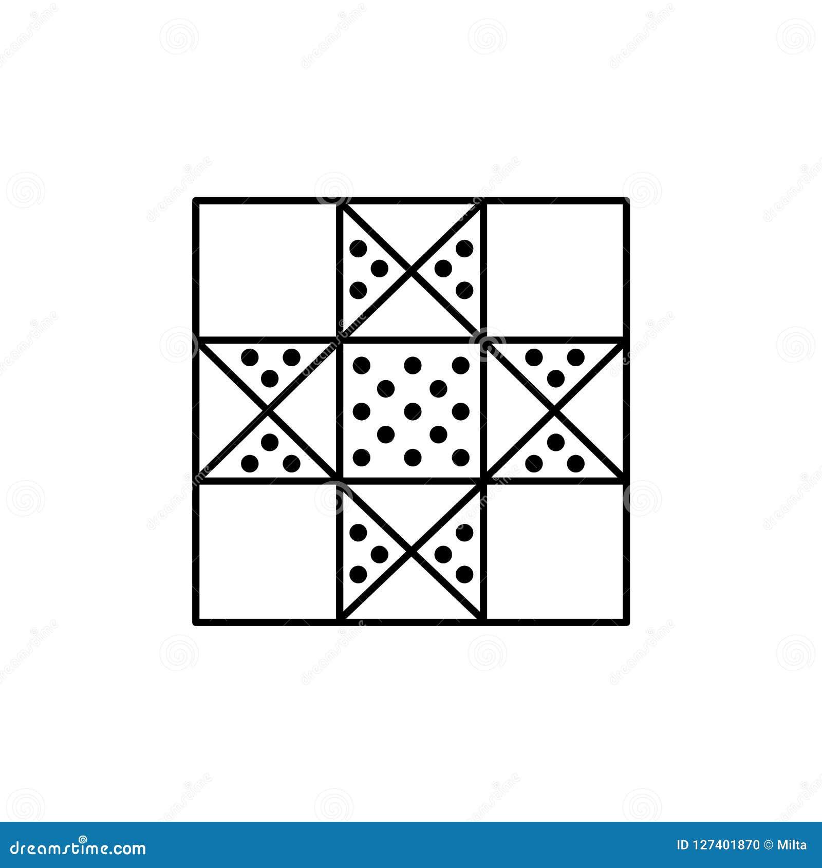 Czarna & biała wektorowa ilustracja samotny gwiazdy kołderki wzór Li