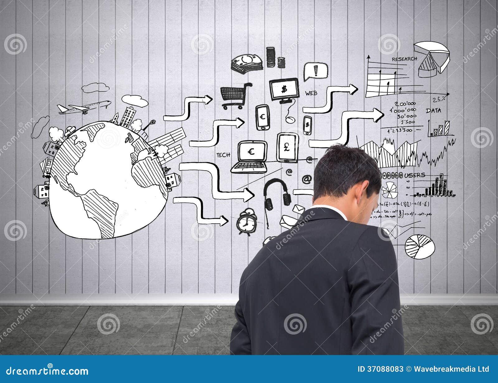 Download Czarna Biała Grafika W Popielatym Pokoju Obraz Stock - Obraz złożonej z mapa, społeczność: 37088083