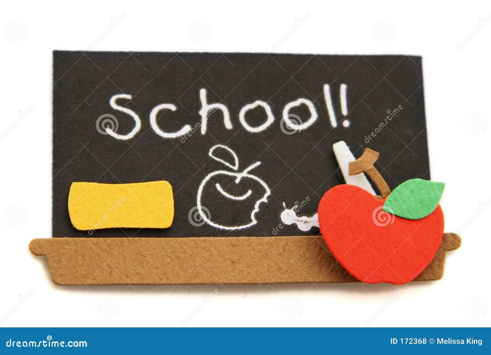 Czarna deski do szkoły