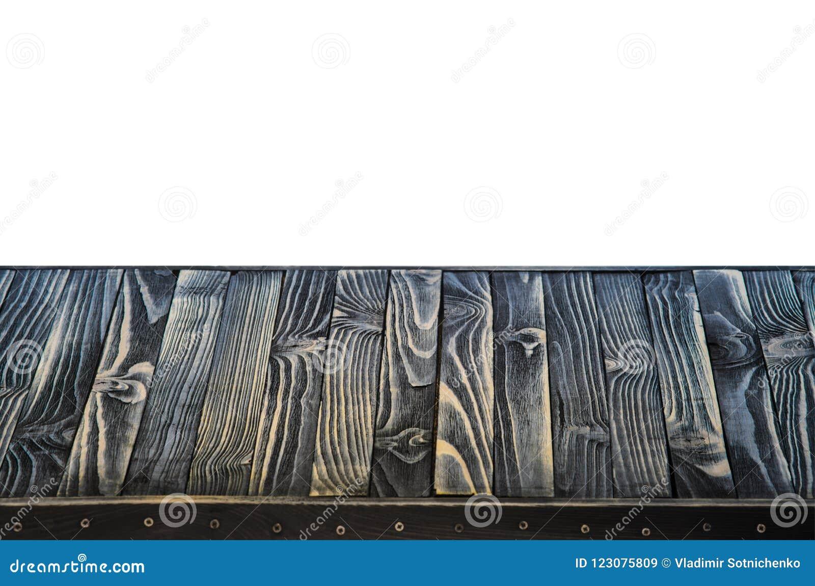 Czarna Drewniana półka lub Stołowy wierzchołek