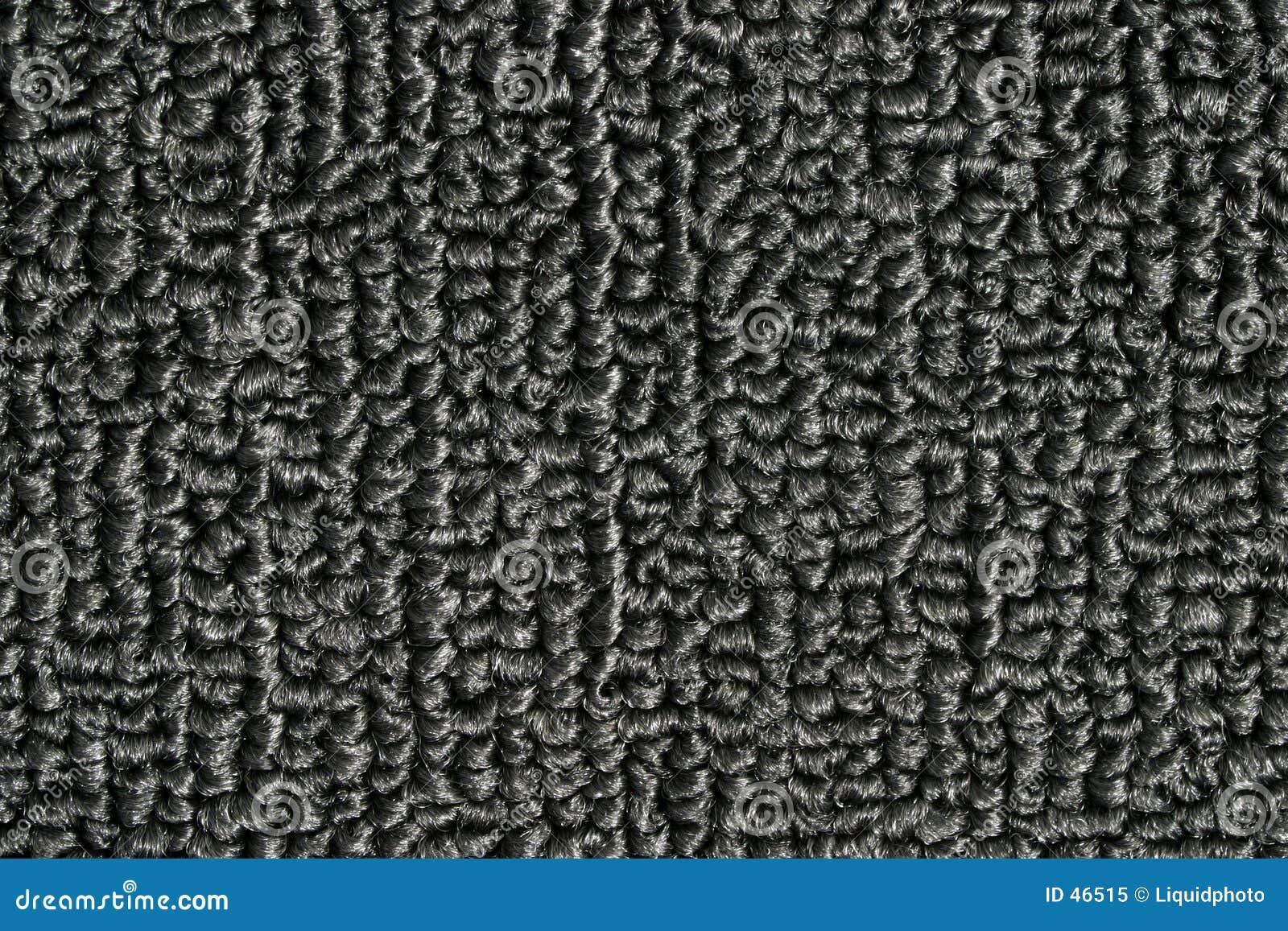 Czarna dywanowa konsystencja