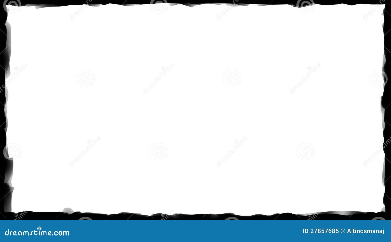 Czarna granicy rama - Szczotkarski uderzenie 04