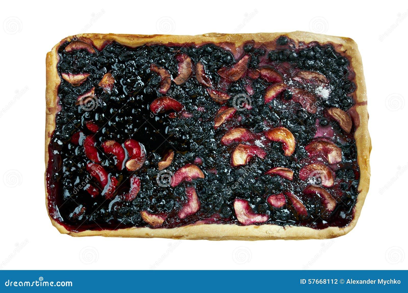 Czarna jagoda kulebiak