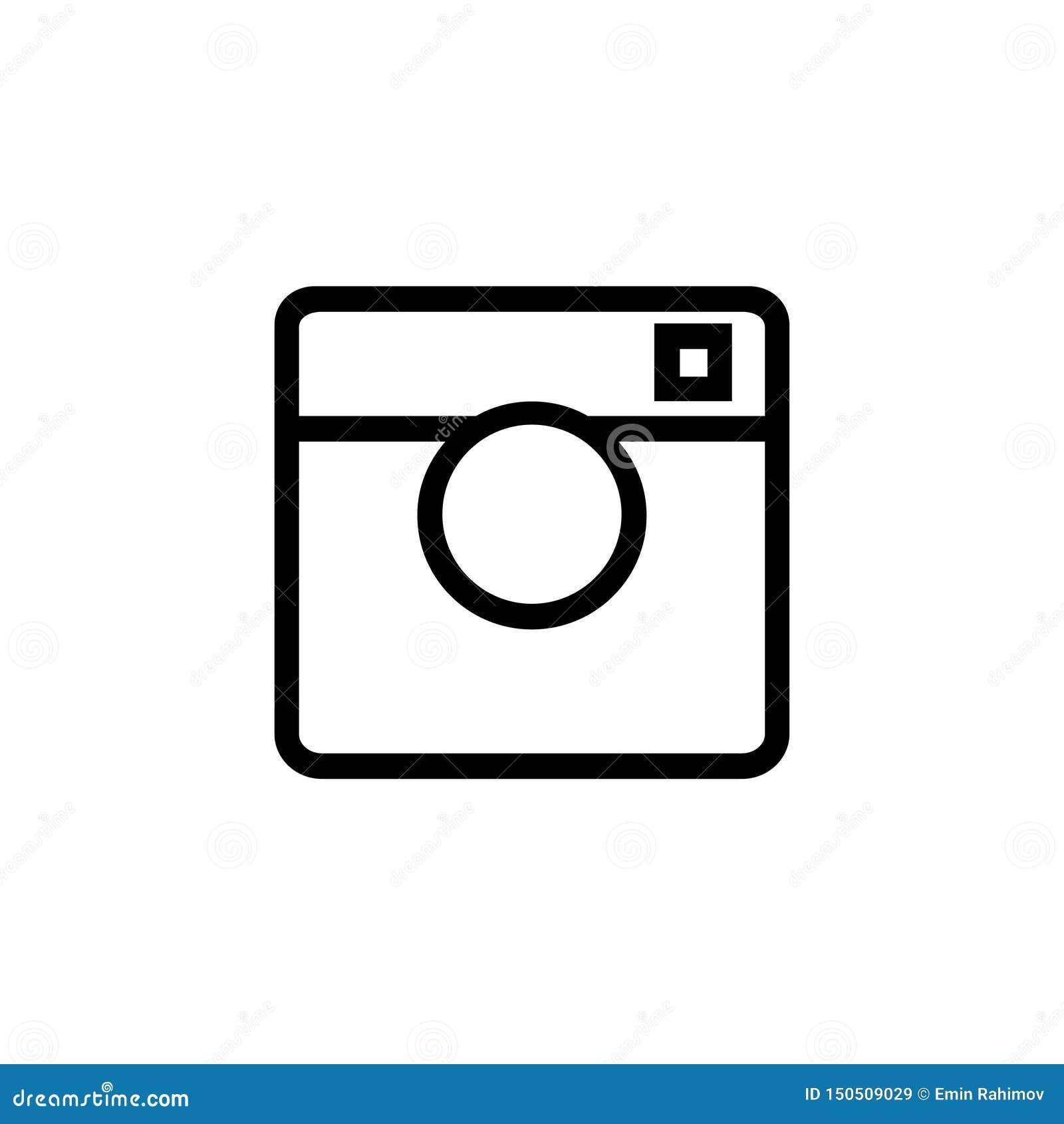 Czarna kamera na białej tło ikonie