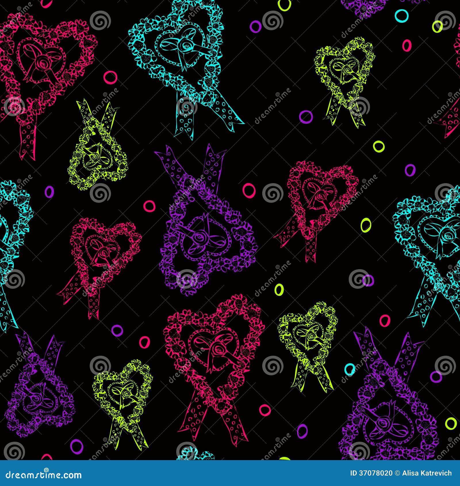 Download Czarna Papierowa Kierowa Walentynka Dnia Karta. Ilustracja Wektor - Ilustracja złożonej z wzór, ornament: 37078020