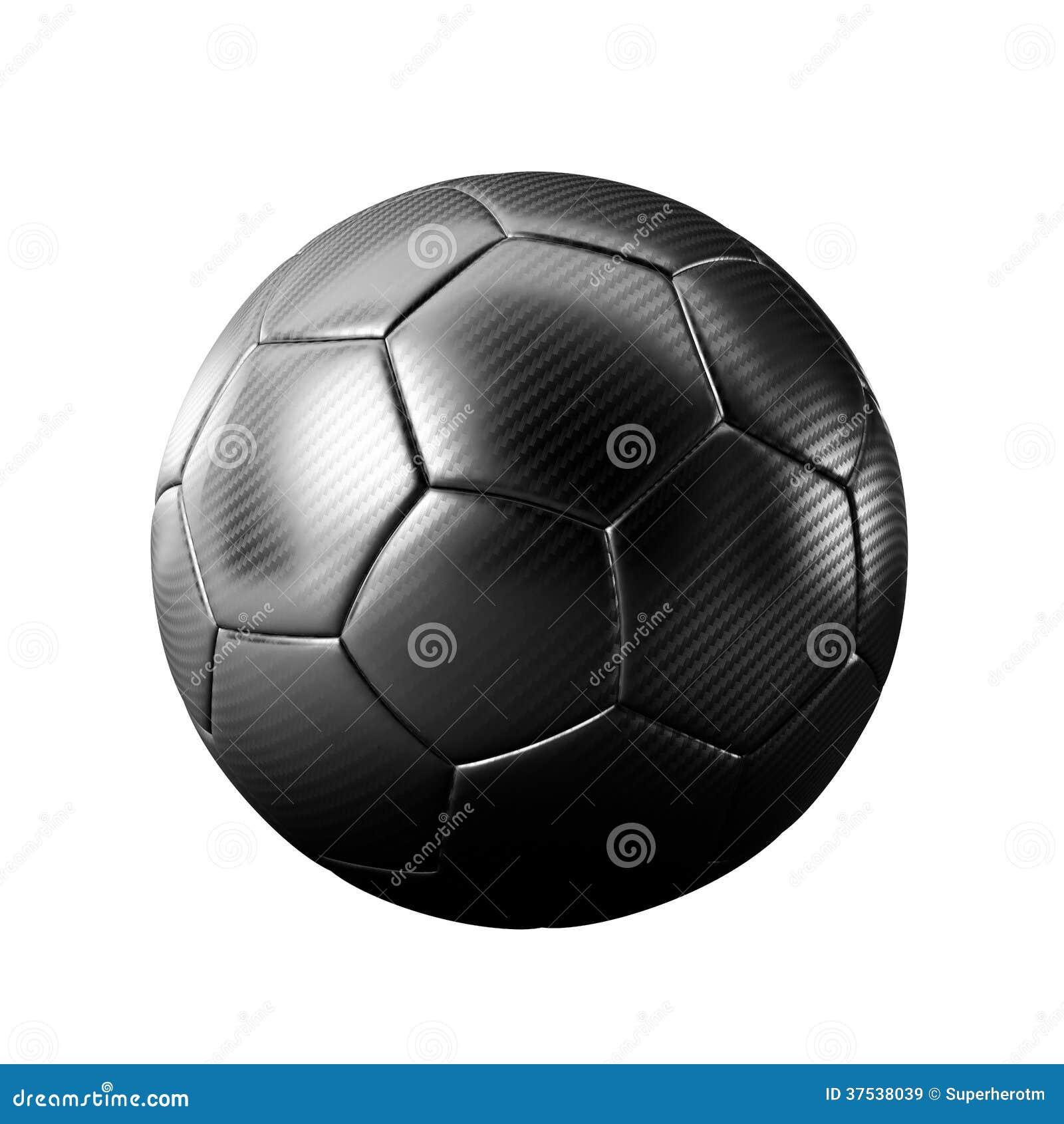 Czarna piłki nożnej piłka odizolowywająca