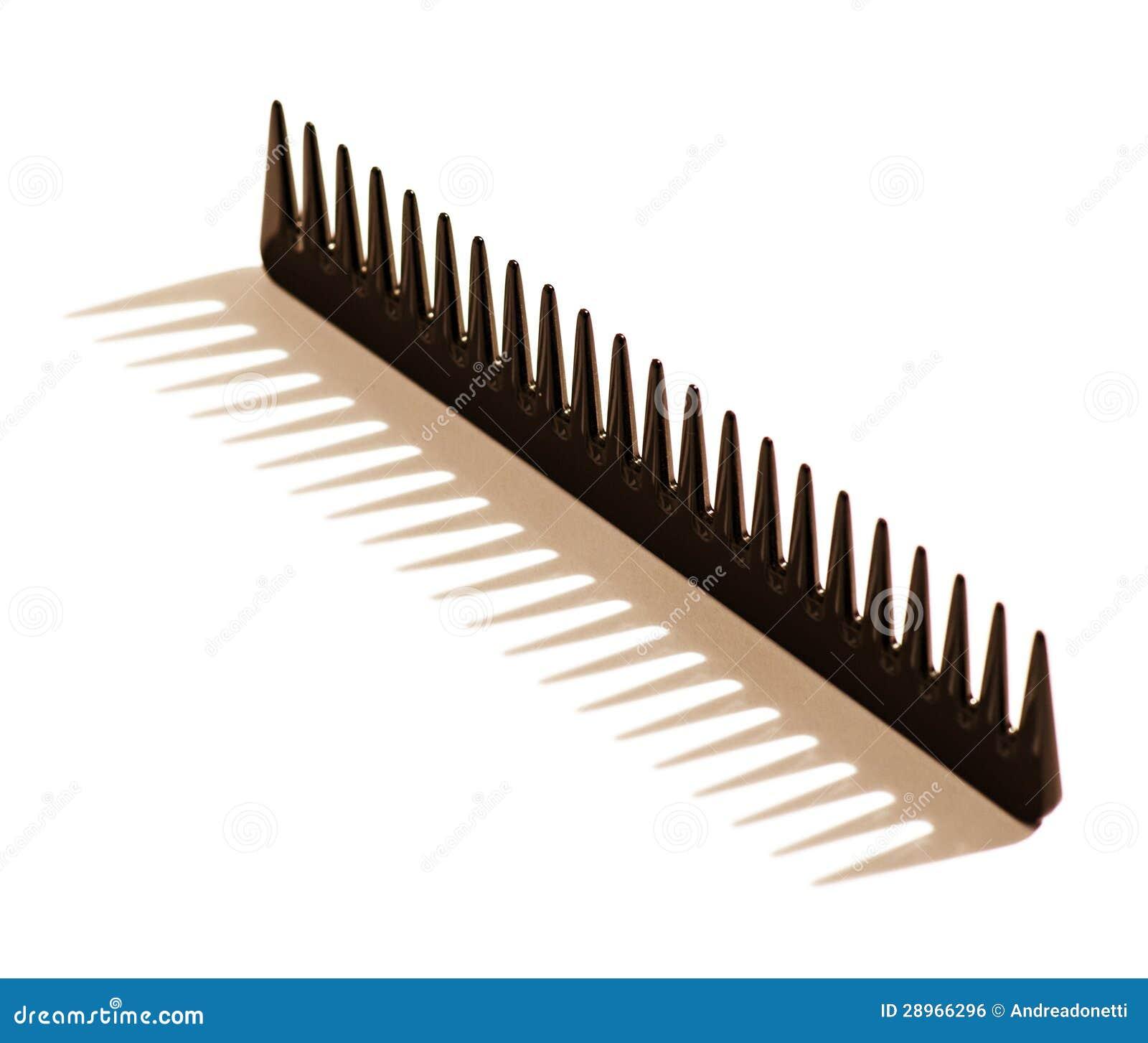 Czarna uzębiona włosy grępla
