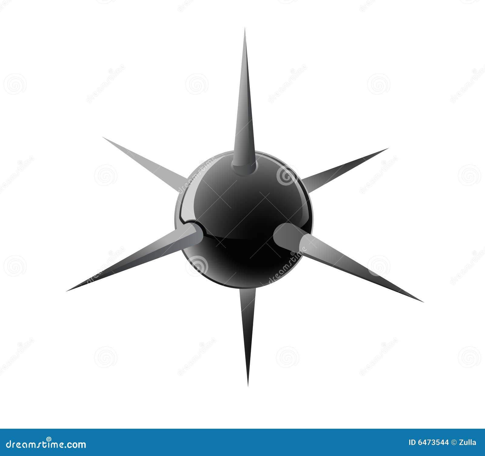 Czarne balowe igły
